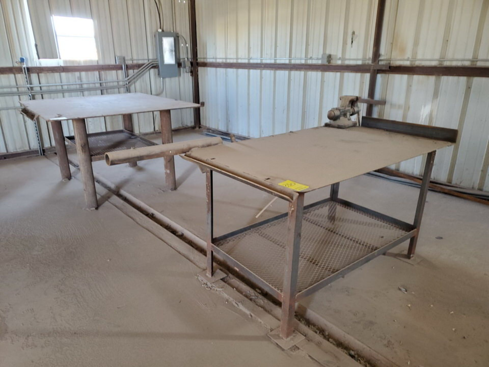 """Welding Tables (1) 37"""" x 65"""" x 36"""", W/ 5-1/2"""" Vise, (1) 72"""" x 64"""" x 38"""" - Image 5 of 8"""