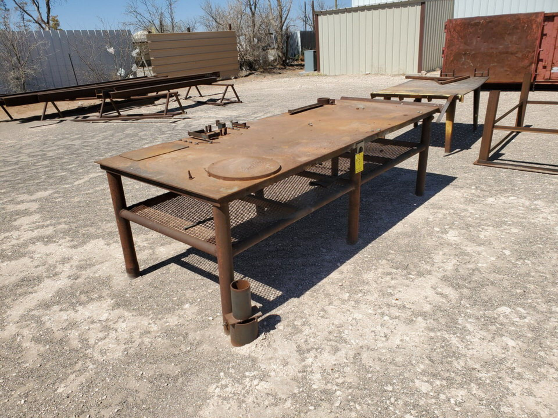 "(2) Welding Tables (1) 4' x 10'6"" x 3', (1) 48"" x 76"" x 32""; W/ Table Frame, 42"" x 78"" x 36"" - Image 2 of 8"