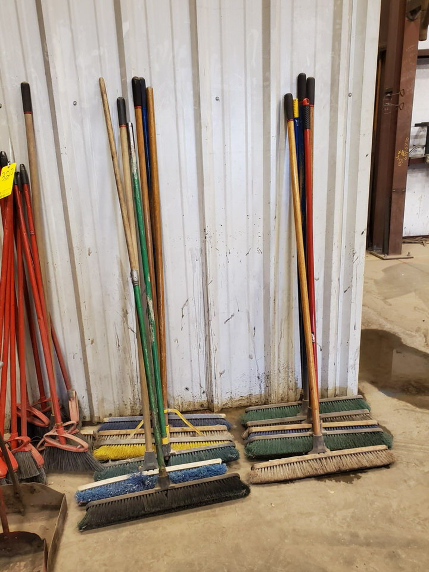 Assorted Cleaning & Yard Matl To Include But Not Limited To: Brooms, Shovels, Rakes, Dust Pans, - Image 4 of 6
