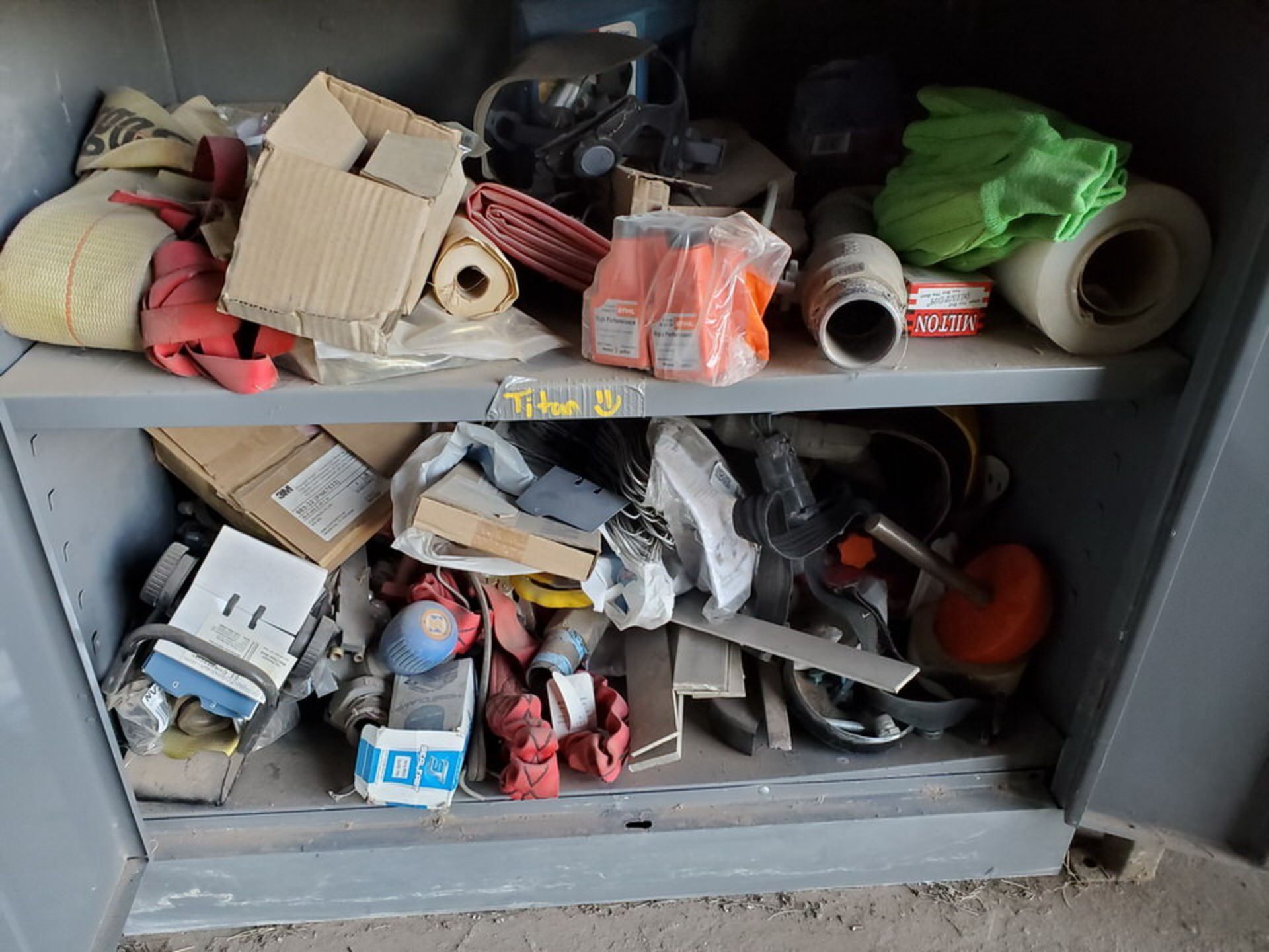 (2) Metal Storage Lockers To Include But Limited To: Lubricants & Paints, Assorted Fittings, Air - Image 7 of 9