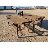 "(2) Stl Welding Tables (1) 48-1/2"" x 96"" x 37""H; (1) 37"" x 78"" x 34-1/2""H"