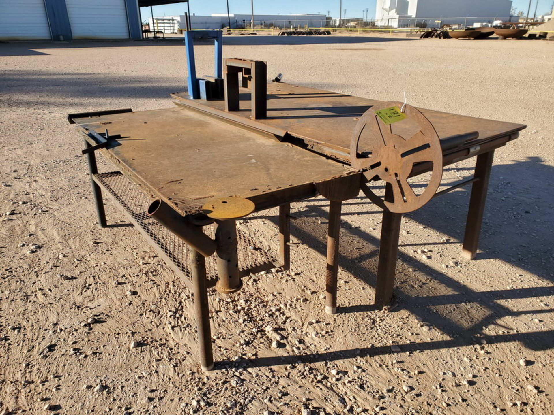 "(2) Stl Welding Tables (1) 48-1/2"" x 96"" x 37""H; (1) 37"" x 78"" x 34-1/2""H"