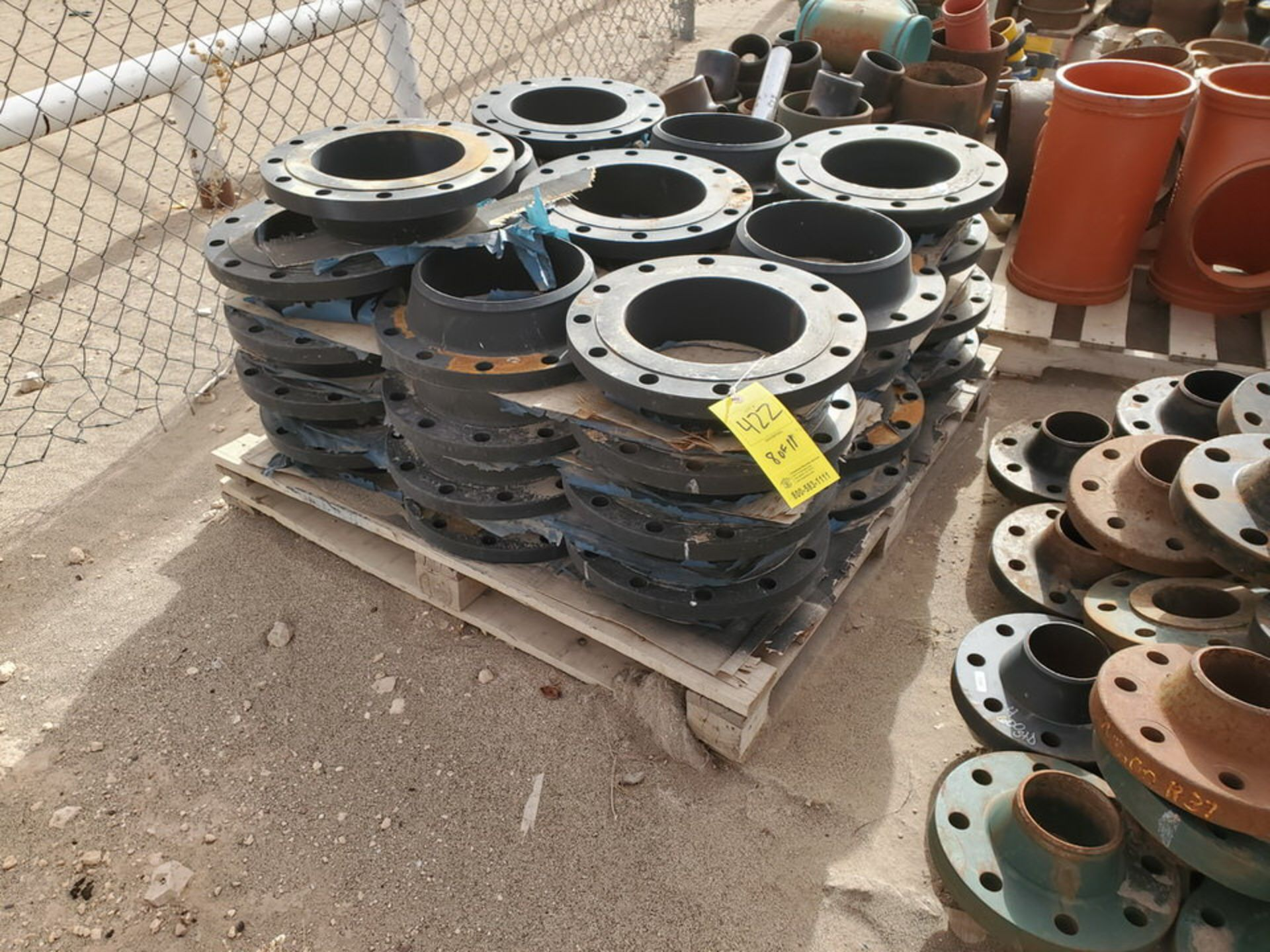 "Assorted Flanges (11) Pallets, Size Range: 1"" - 10"" - Image 16 of 32"