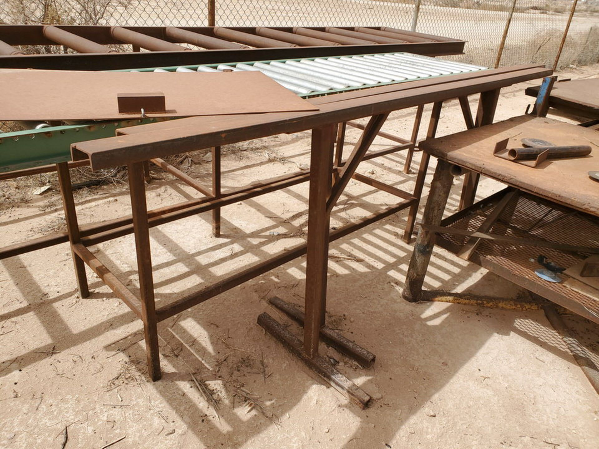 Assorted Matl. To Include But Not Limited To: (3) Welding Tables, Rolling Conveyor, Storage - Image 11 of 11