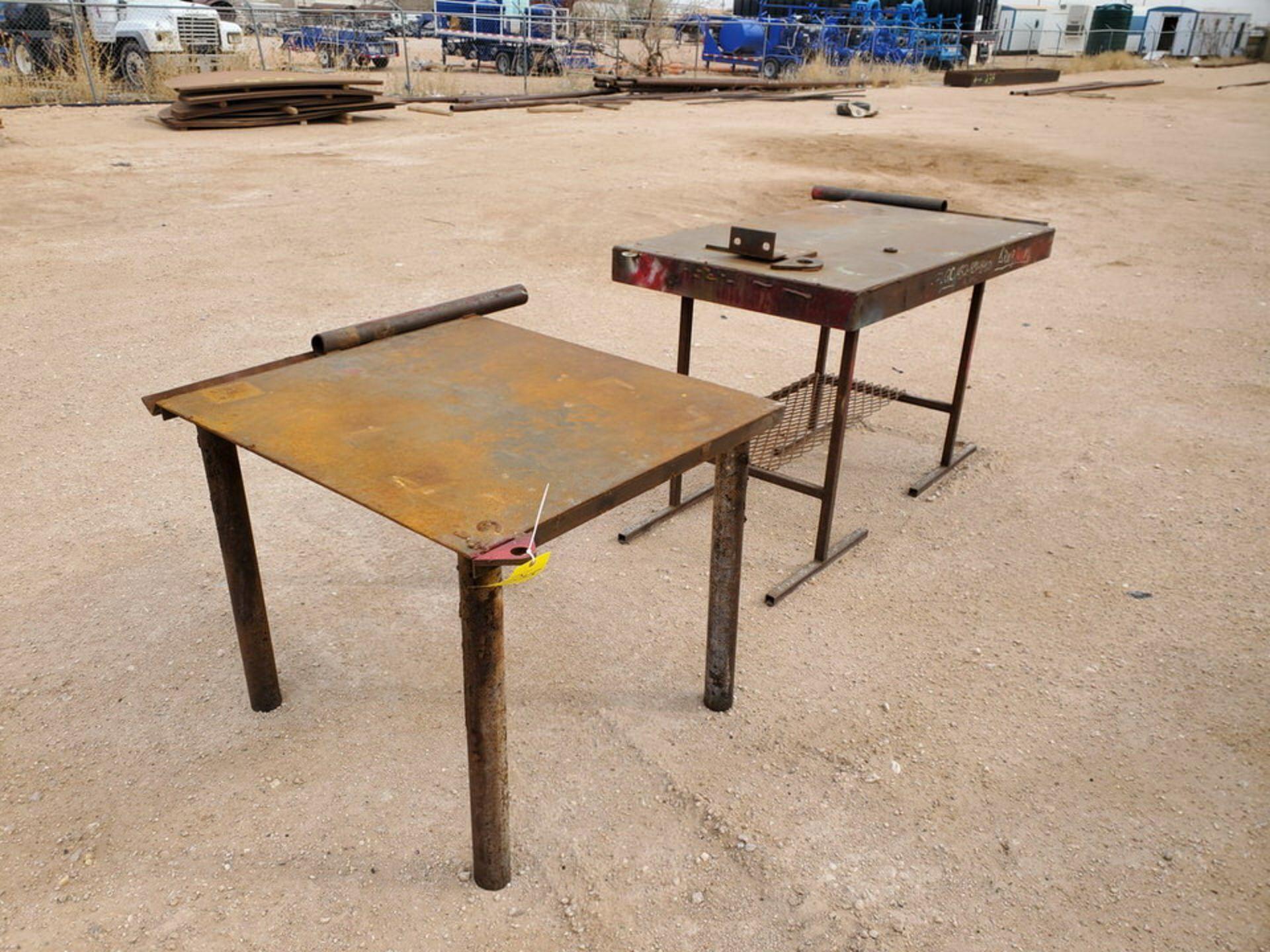 "(2) Stl Welding Tables (1) 36"" x 43"" x 30"", (1) 60"" x 29"" 36"""