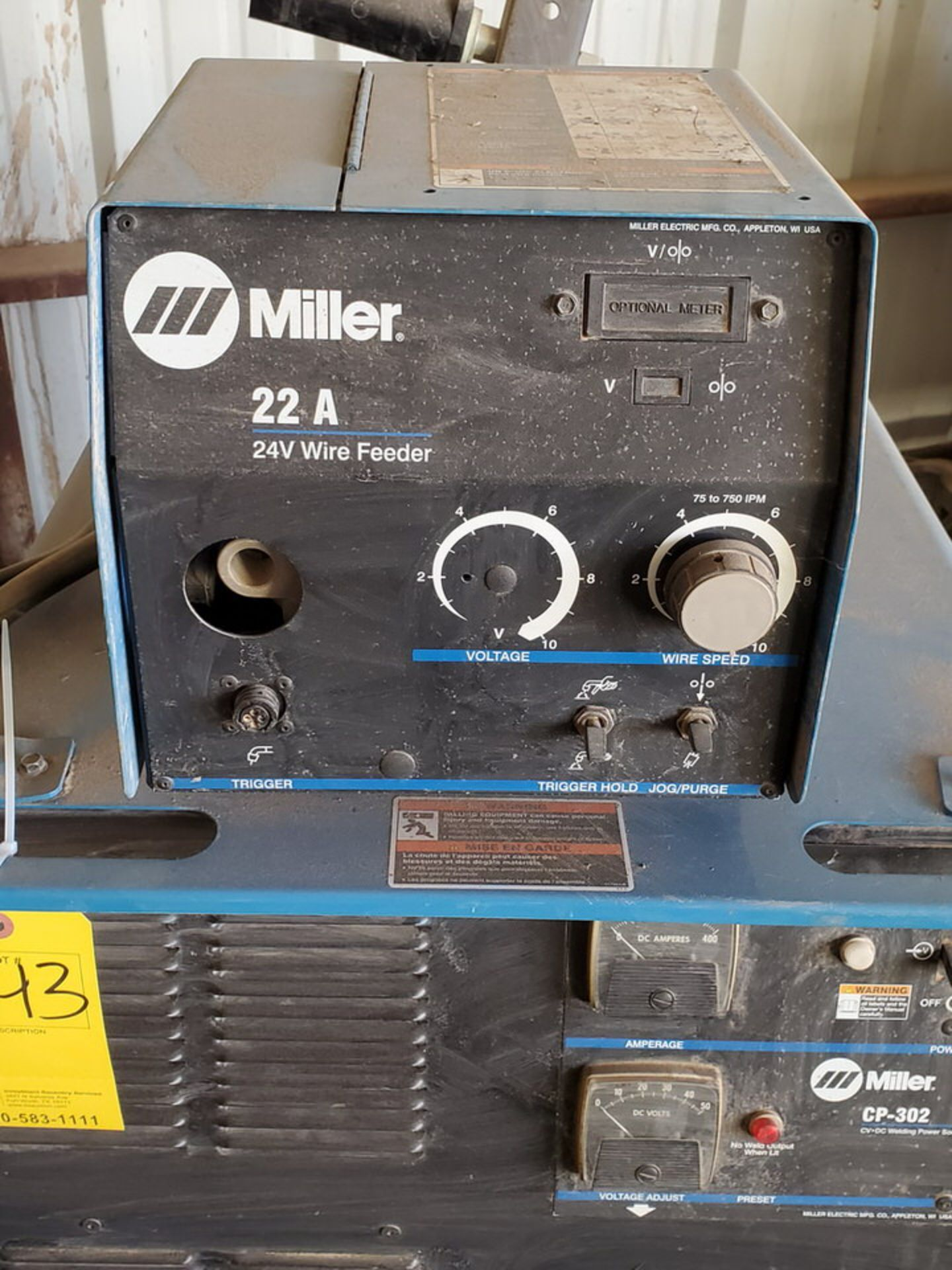 Miller CP-302 Multiprocessing Welder W/ S-22A CC/CV Wire Feeder - Image 4 of 5