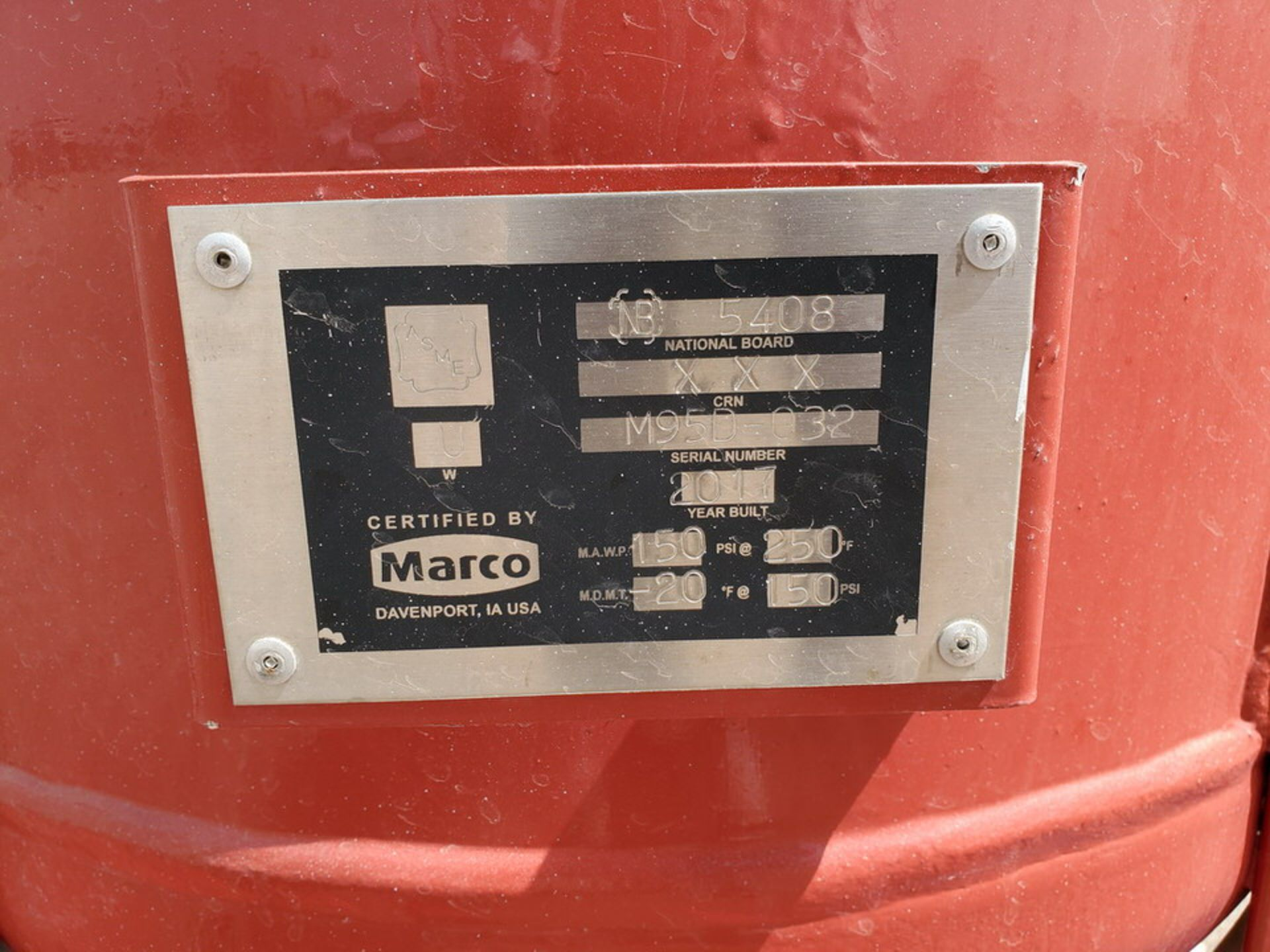 """2017 Marco Air Dryer 150psi@250F, -20@150psi, Vessel Dims: 30"""" Seam To Seam; Overall Dims: 72"""" x 35"""" - Image 11 of 11"""