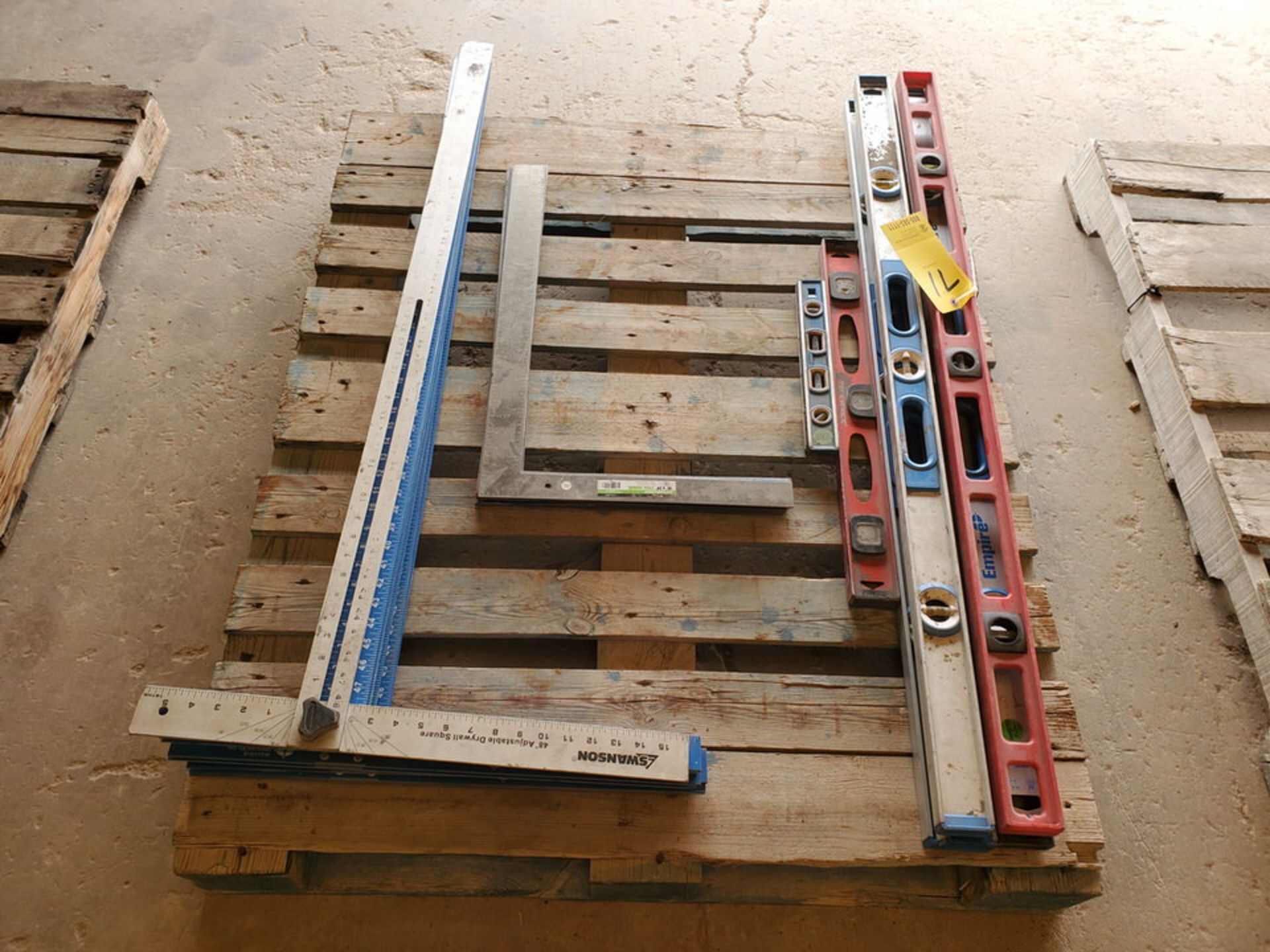 Assorted Material To Include But Not Limited To: Adjustable Drywall Squares & Framing Stl Squares ( - Image 4 of 6
