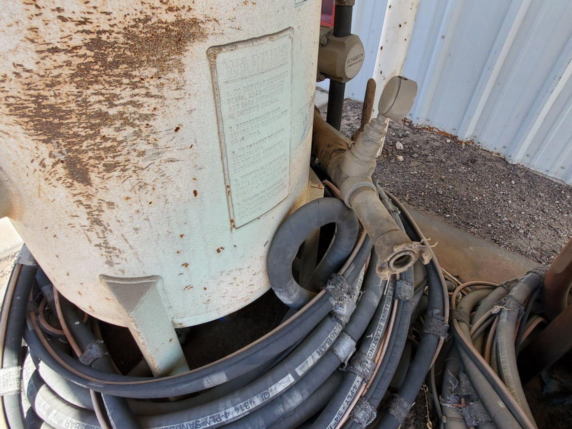 Schmidt 12' Portable Abrasive Sand Blaster Pot 150psi@250F, -20F@150psi; NB# 10649 - Image 6 of 9