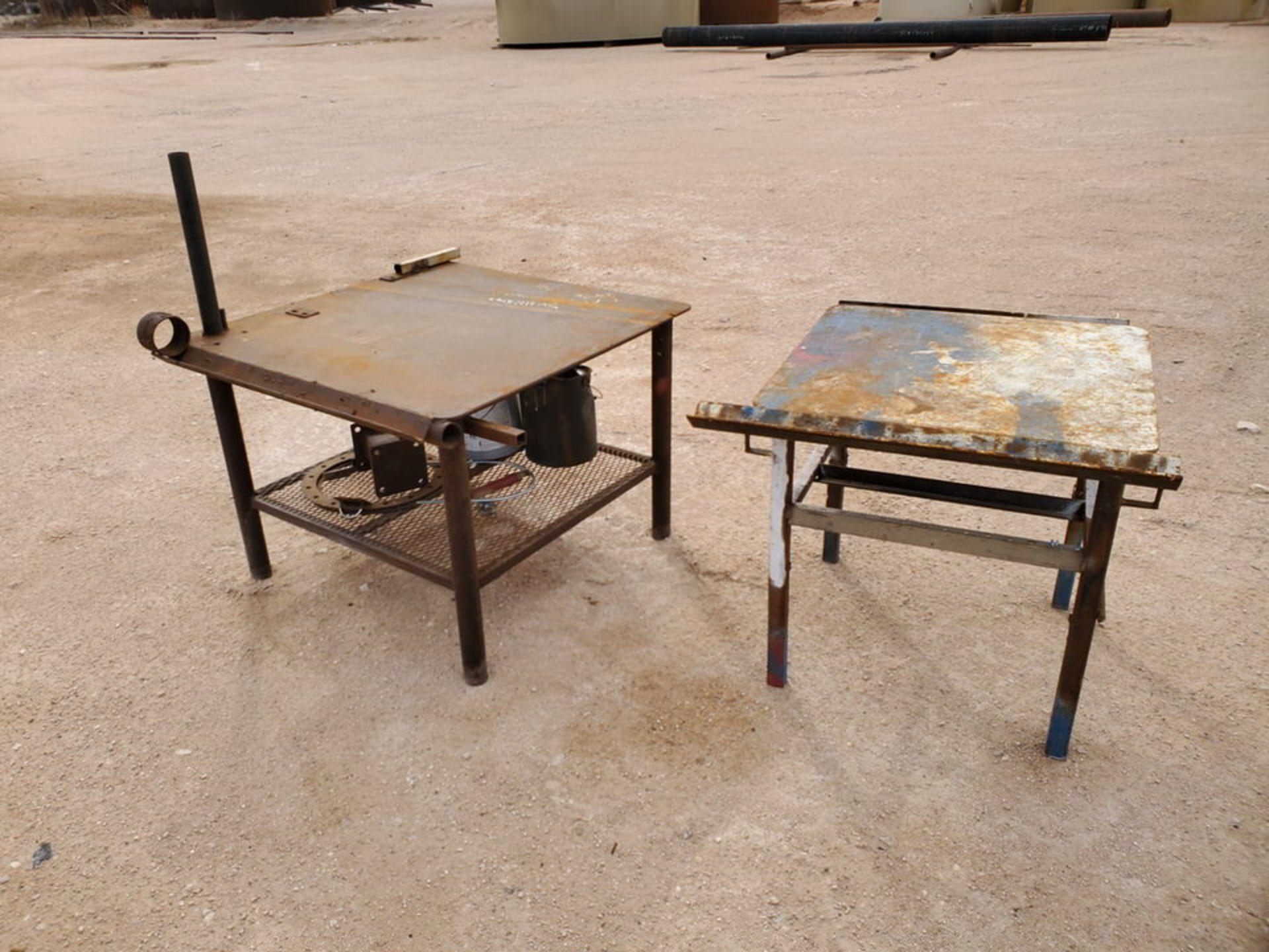 "(2) Stl Welding Tables (1) 43"" x 48"" x 36"", (1) 39"" x 36"" x 36"" - Image 4 of 5"