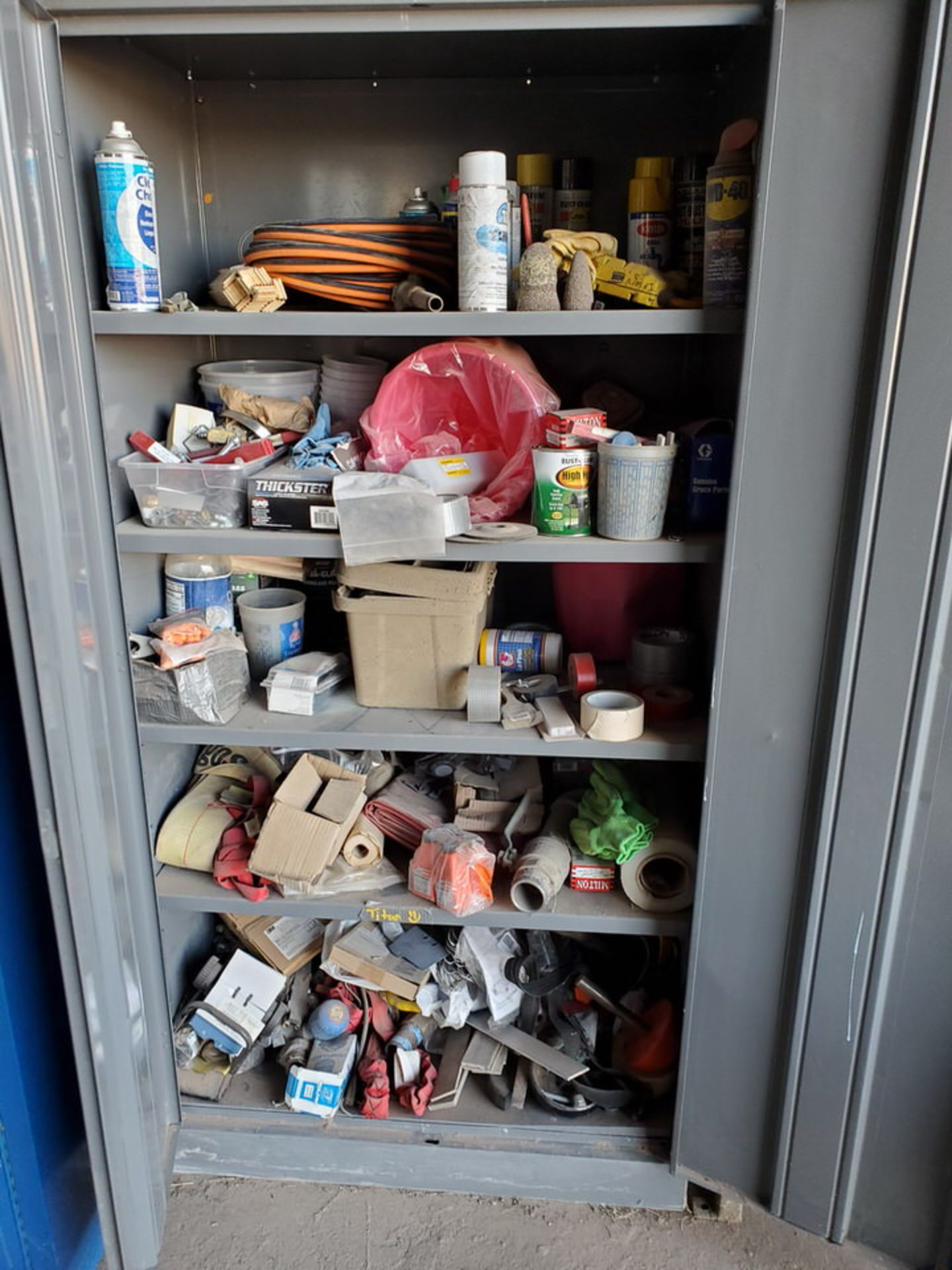 (2) Metal Storage Lockers To Include But Limited To: Lubricants & Paints, Assorted Fittings, Air - Image 6 of 9