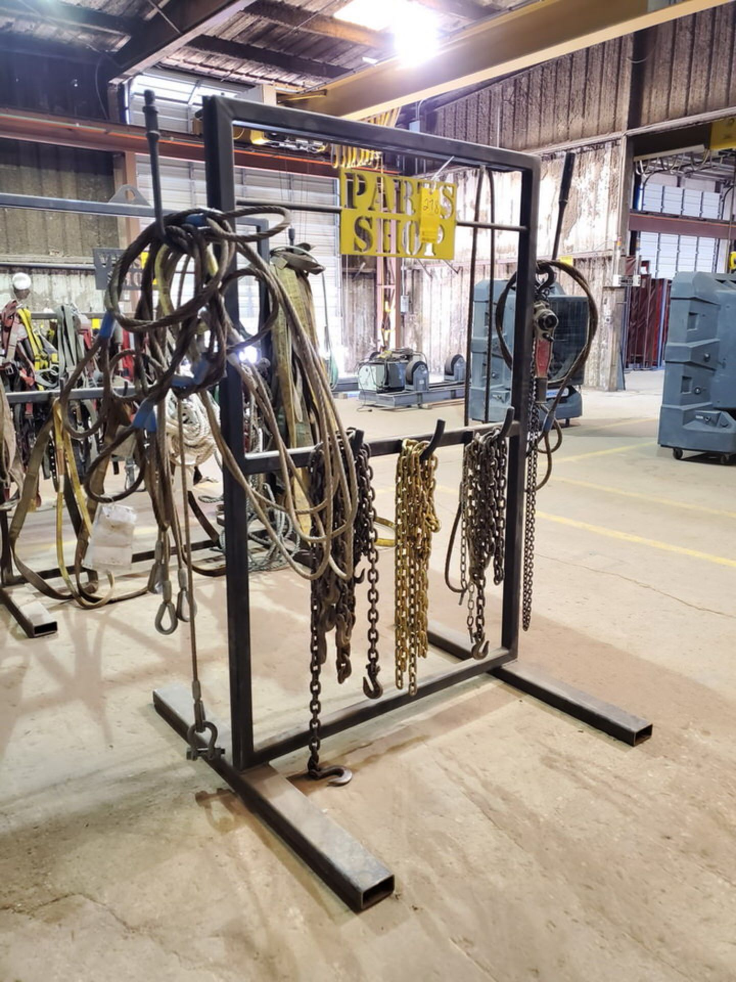 Assorted Lifting Stl Slings & Chains W/ Rack - Image 3 of 7