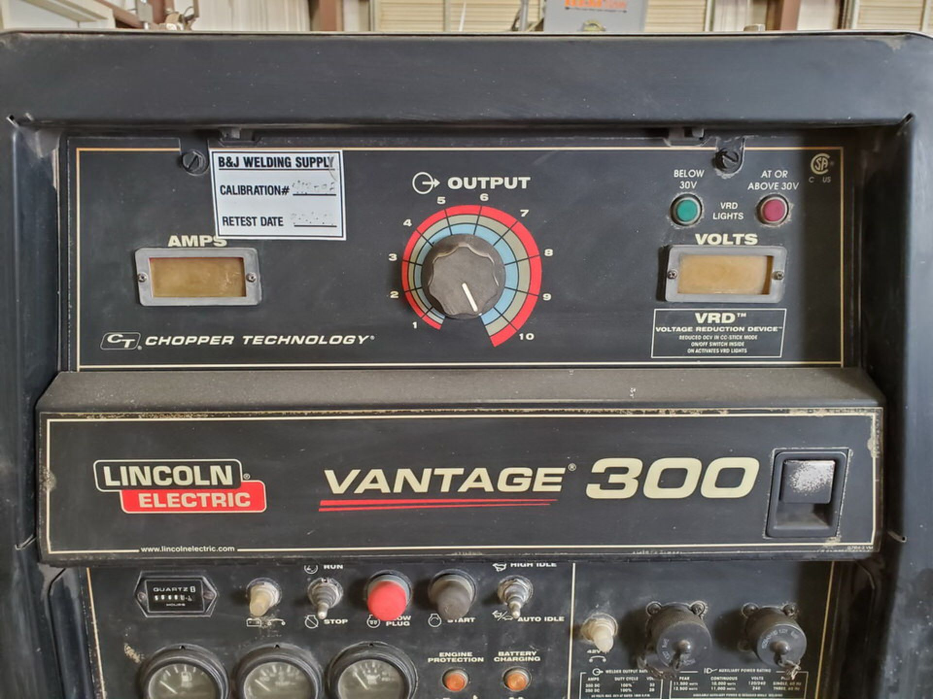 LE Ele Vantage 300 Multiprocessing Welder 120/240V, 60HZ, 300A, 1/3PH, 4,050.4HRS; 4 Cyl Kubota - Image 6 of 10
