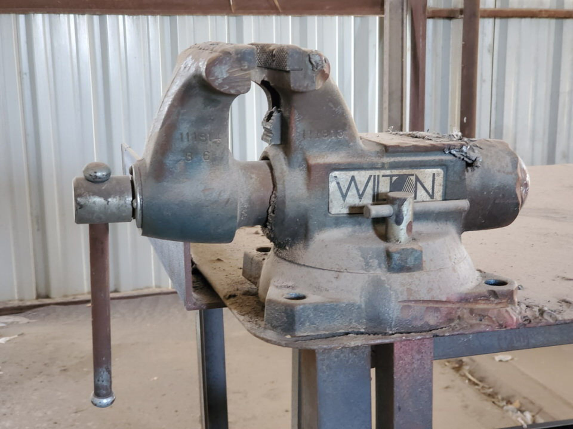 """Welding Tables (1) 37"""" x 65"""" x 36"""", W/ 5-1/2"""" Vise, (1) 72"""" x 64"""" x 38"""" - Image 7 of 8"""