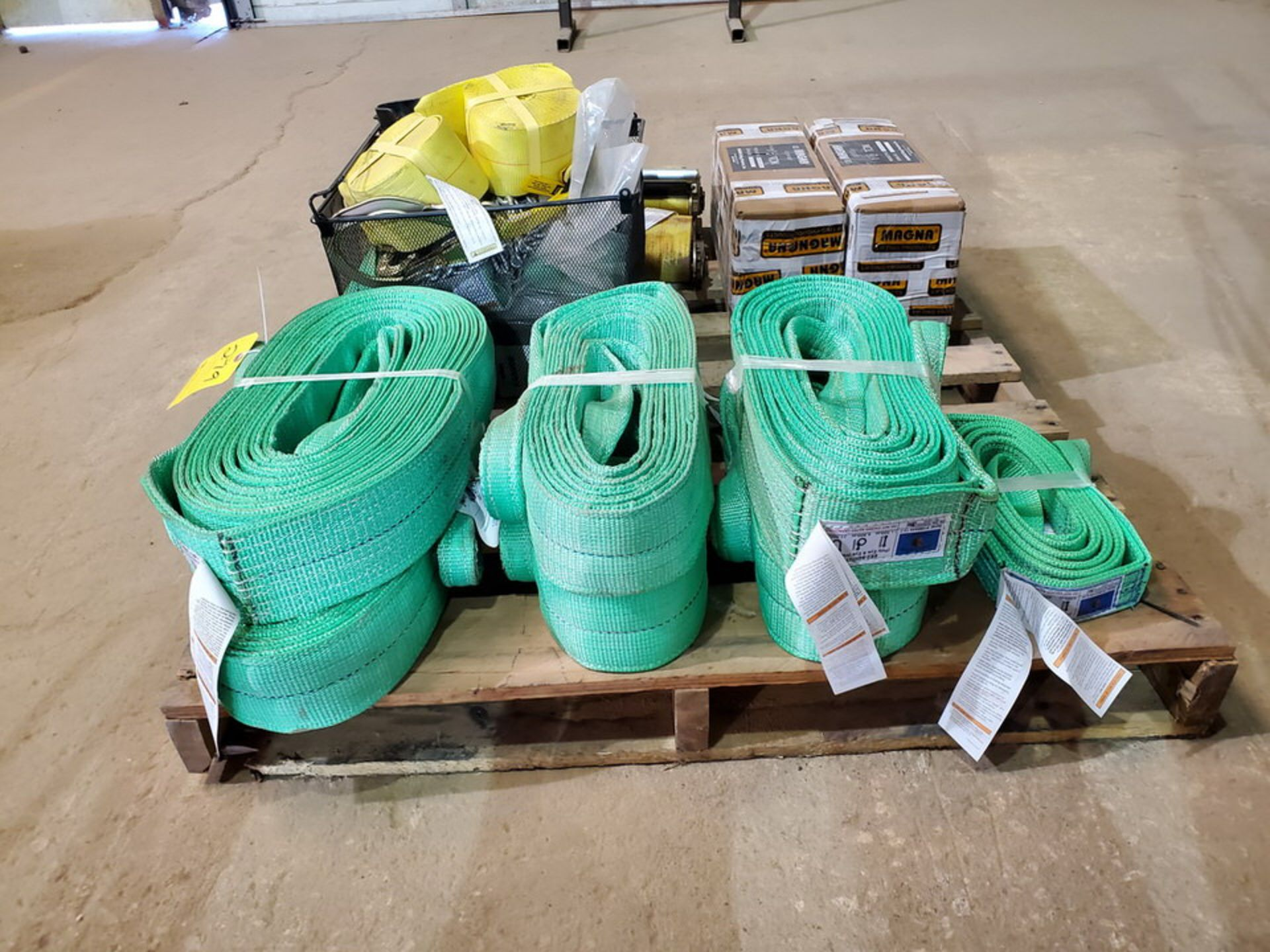 Assorted Lifting Equipment To Include But Not Limited To:Poly Lifting Winch Straps, Chains, 1-1/2 - Image 3 of 7