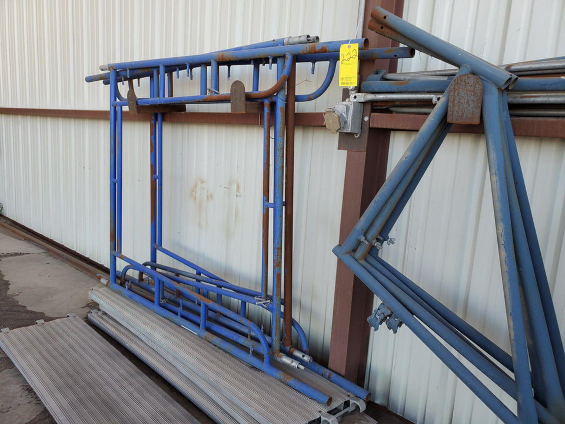 Scaffold W' 16' Fixed Alum. Ladder - Image 8 of 10