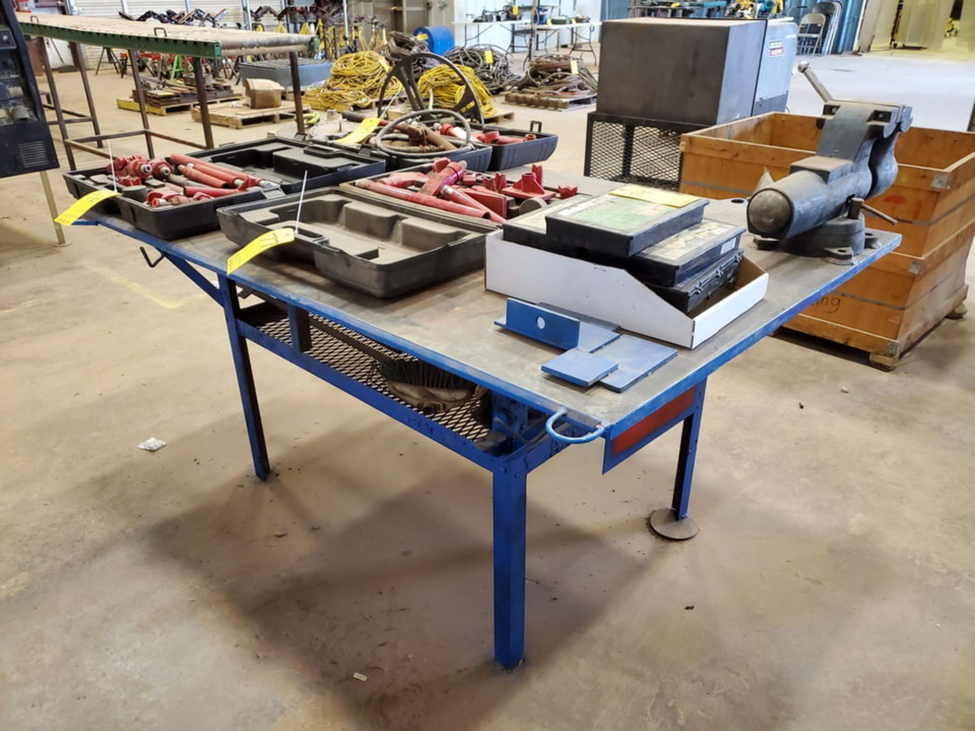 "Stl Welding Table W/ 6"" Vise 48"" x 70"" x 35""H (Material Excluded) - Image 5 of 8"