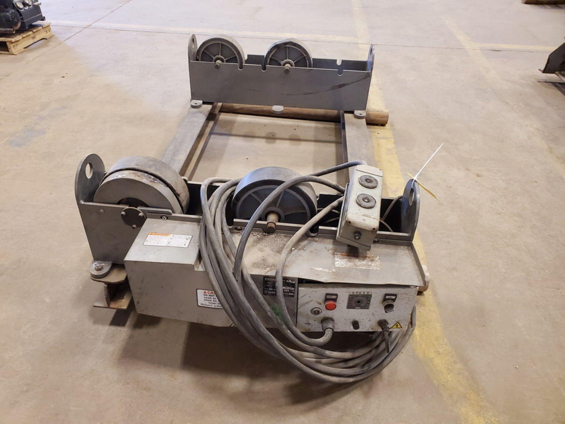 "Profax TR-5000 Turn Roll 2500 Cap., 115V, 10A, 50/60HZ, 1PH, RPM: 0.5-5; 3"" Wheel Dia.; Skid Dims: - Image 2 of 9"