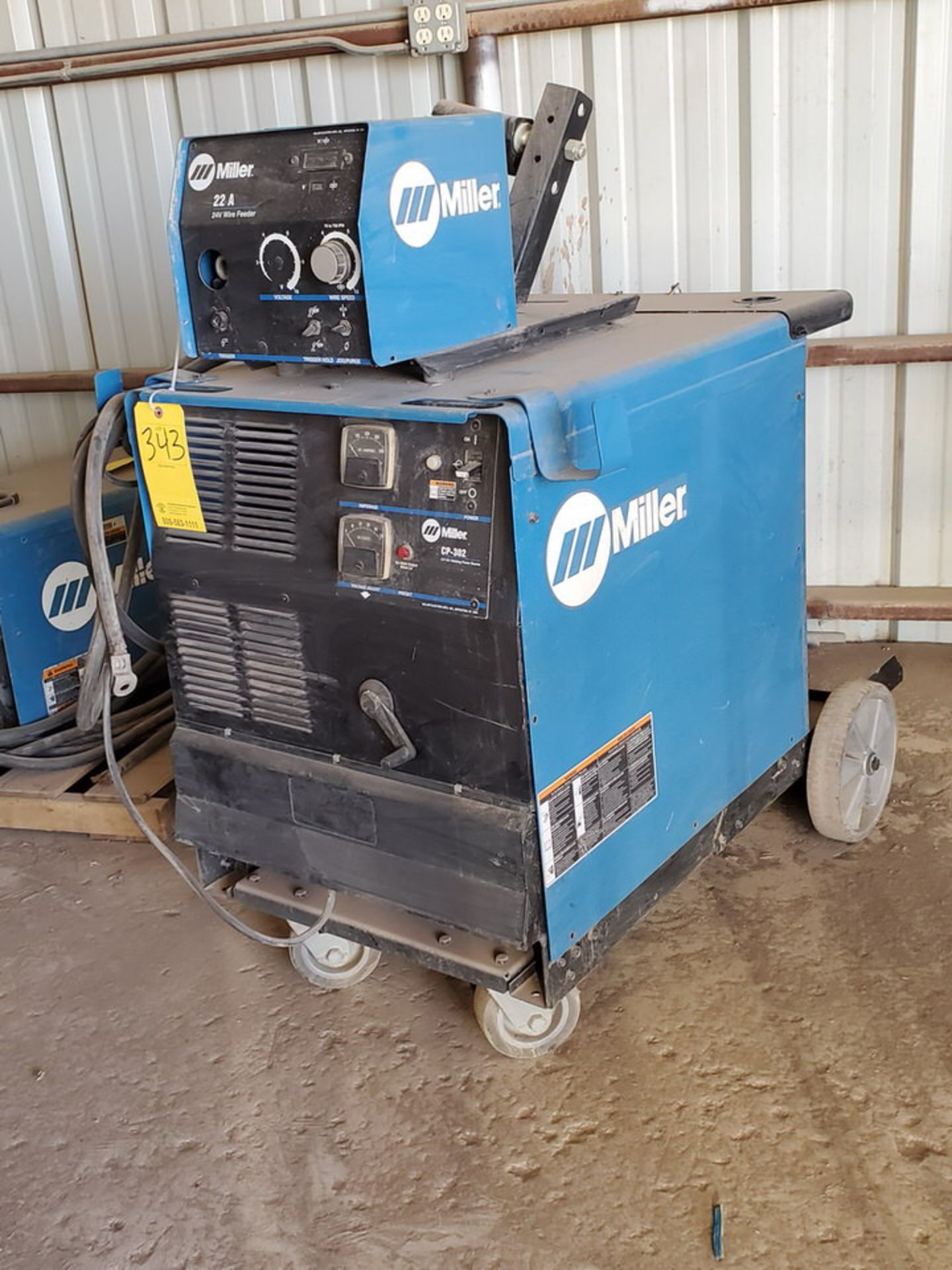 Miller CP-302 Multiprocessing Welder W/ S-22A CC/CV Wire Feeder - Image 3 of 5