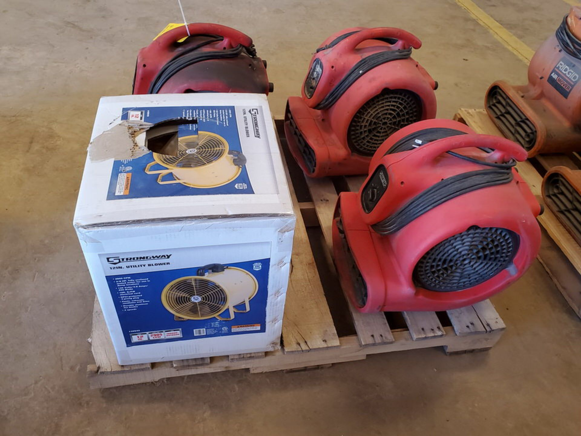 Strongway & Ironton (4) Air Blowers (3) 115V, 1HP, 8.5A; (1) 120V, 3.8A, 430W, 1300RPM - Image 3 of 5