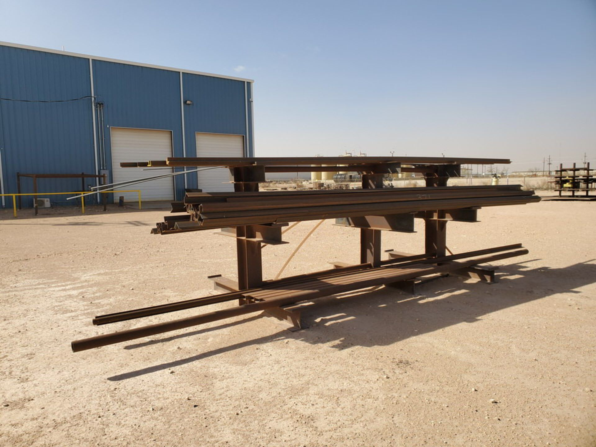 """(65) Angle, Pipe, Rect. Tubing & Other D: 3""""-4"""", L: 10' - 23'6""""; W/ Racks"""