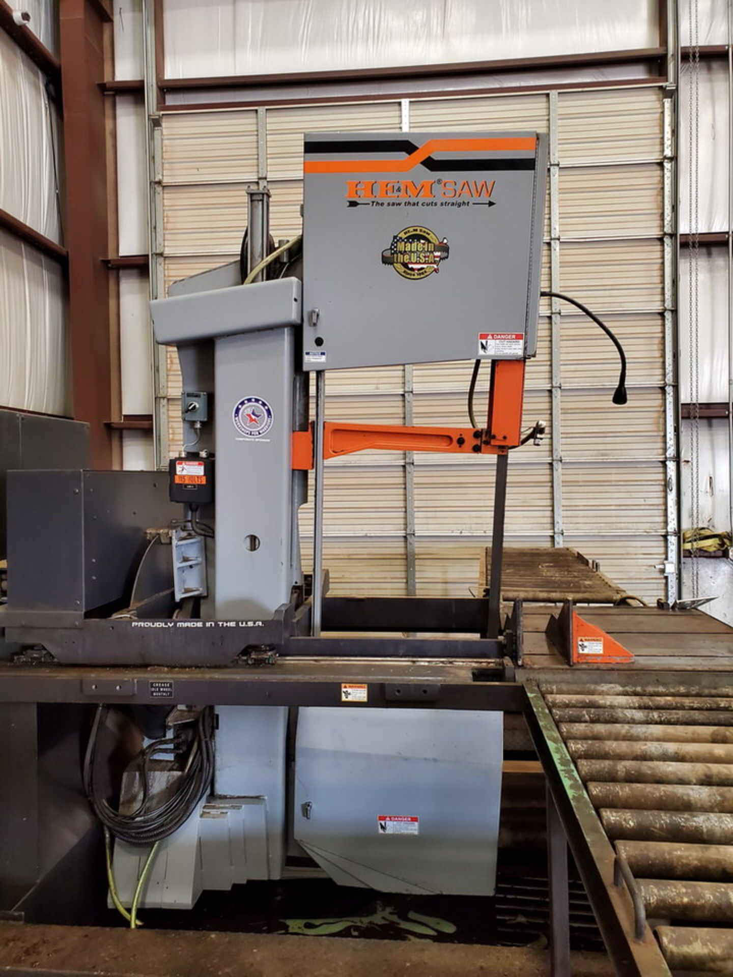 "HEM VT140HM-60-CTS Vertical Bandsaw 440V, 10HP, 23.61A, Blade L: 1-1/2"" x 20' x .050""; W/ Spare - Image 3 of 16"