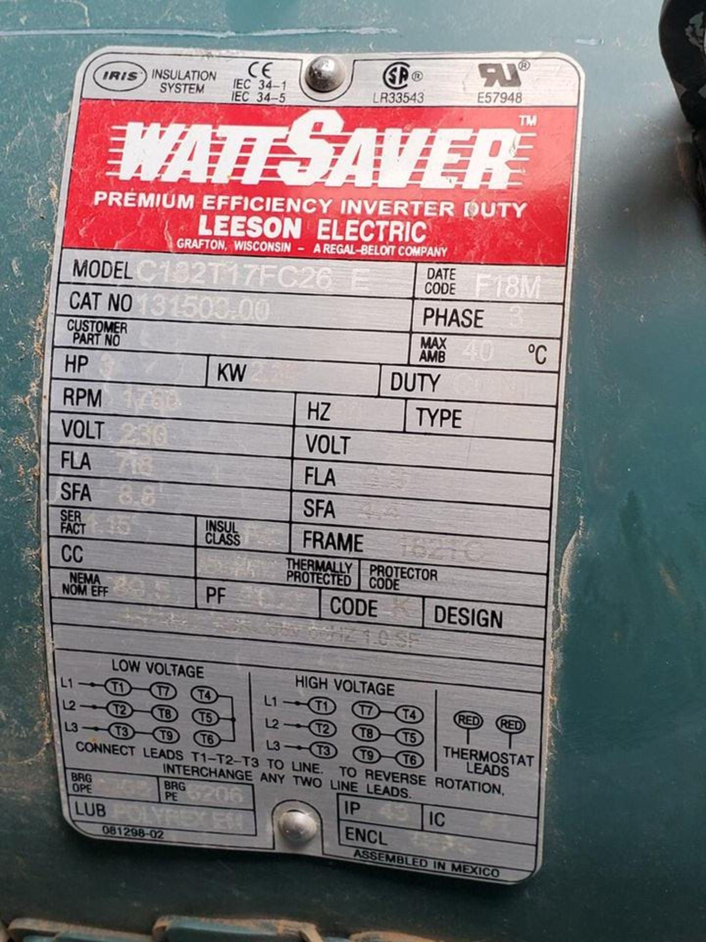 Leeson (2) Motors 230V, 3HP, 1760RPM, 3PH, 182TC-Frame - Image 4 of 4