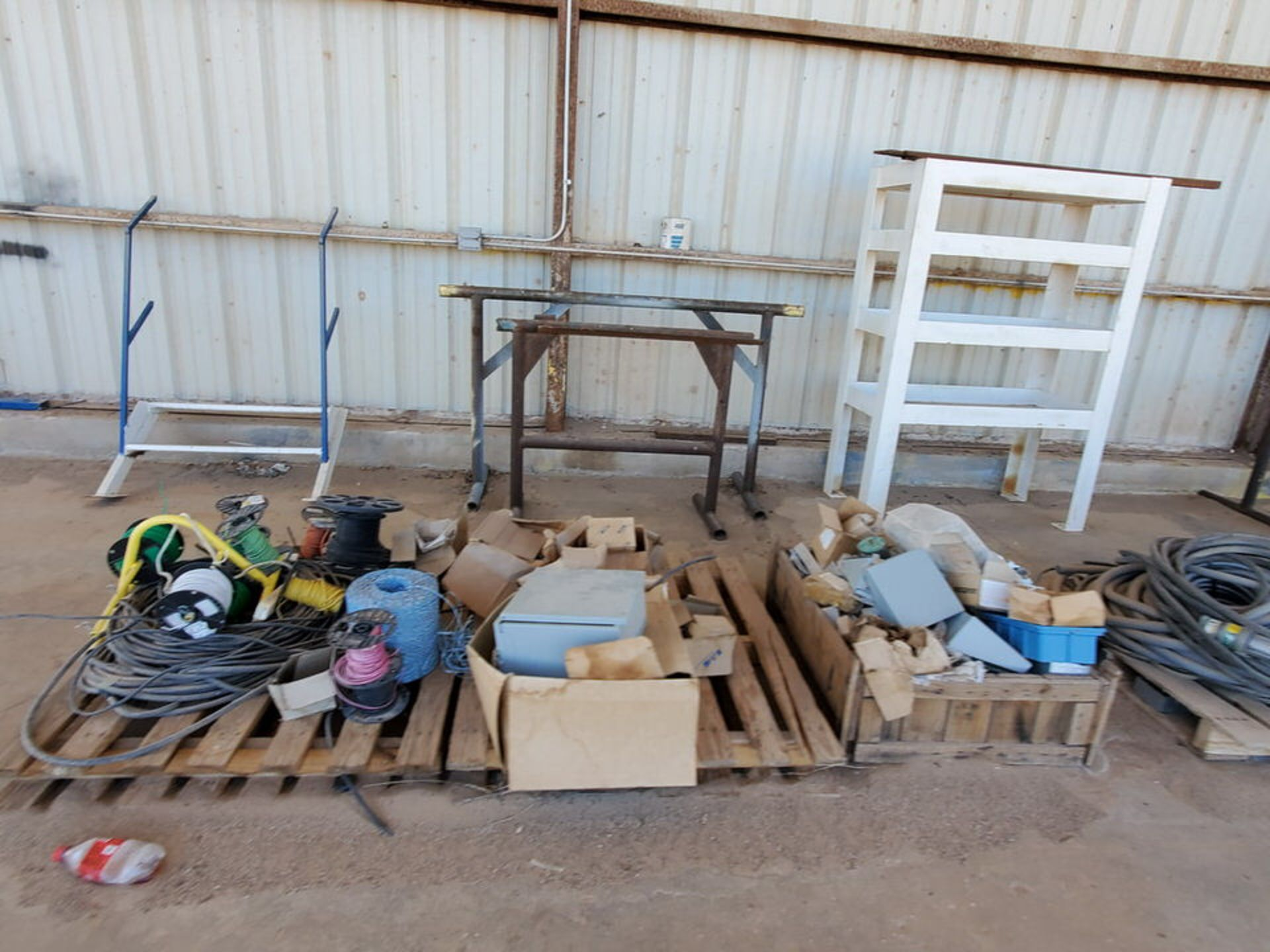 Misc. Matl. To Include But Not Limited To: Lift Basket, Welding Table, Sheet Metal, Ele Wire, Rope - Image 9 of 13