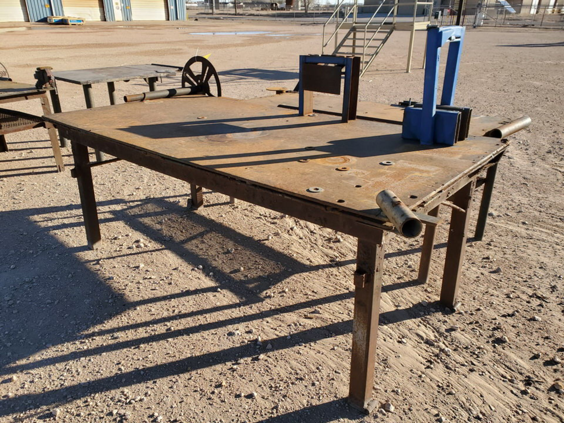 "(2) Stl Welding Tables (1) 48-1/2"" x 96"" x 37""H; (1) 37"" x 78"" x 34-1/2""H - Image 2 of 4"