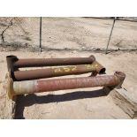 """Flanged Pipe 8"""" x 7'6""""; (2) Stl, (1) Fiberglasss"""