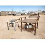 "(2) Stl Welding Tables (1) 43"" x 48"" x 36"", (1) 39"" x 36"" x 36"""