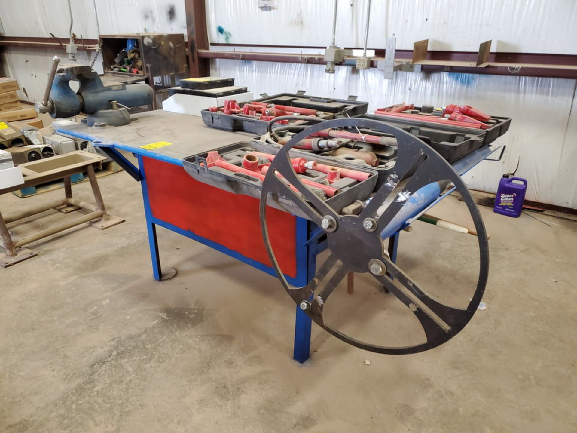 "Stl Welding Table W/ 6"" Vise 48"" x 70"" x 35""H (Material Excluded) - Image 3 of 8"