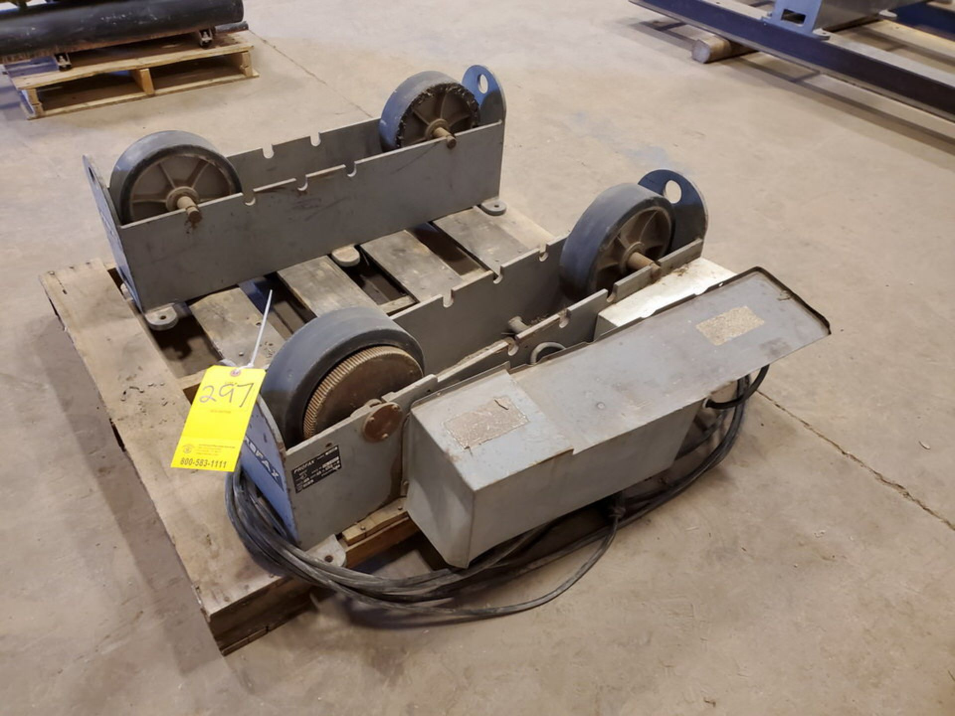 "Profax TR-5000 Turn Roll 5K Cap., 115V, 10A, 50/60HZ, 1PH, RPM: 0-5; 3"" Wheel Dia."
