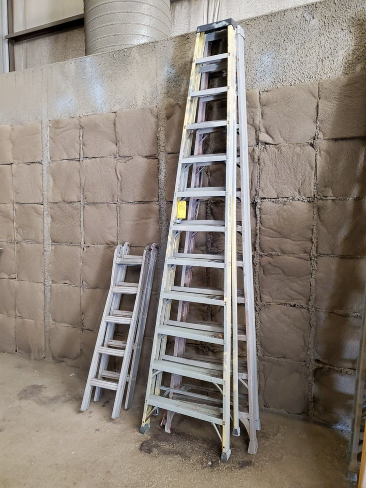 (4) Assorted Fiberglass Platform Ladders Sizes: (2) 4', (2) 14' - Image 2 of 4