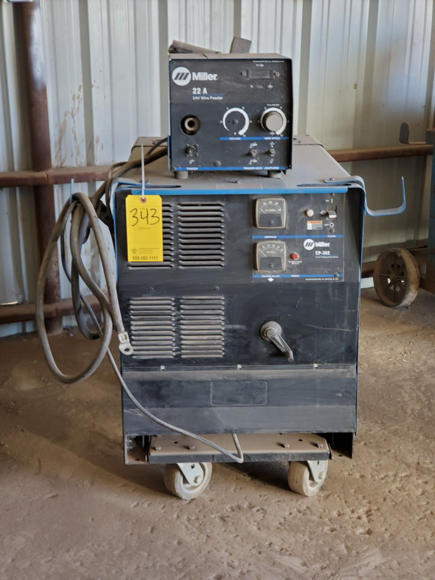 Miller CP-302 Multiprocessing Welder W/ S-22A CC/CV Wire Feeder - Image 2 of 5