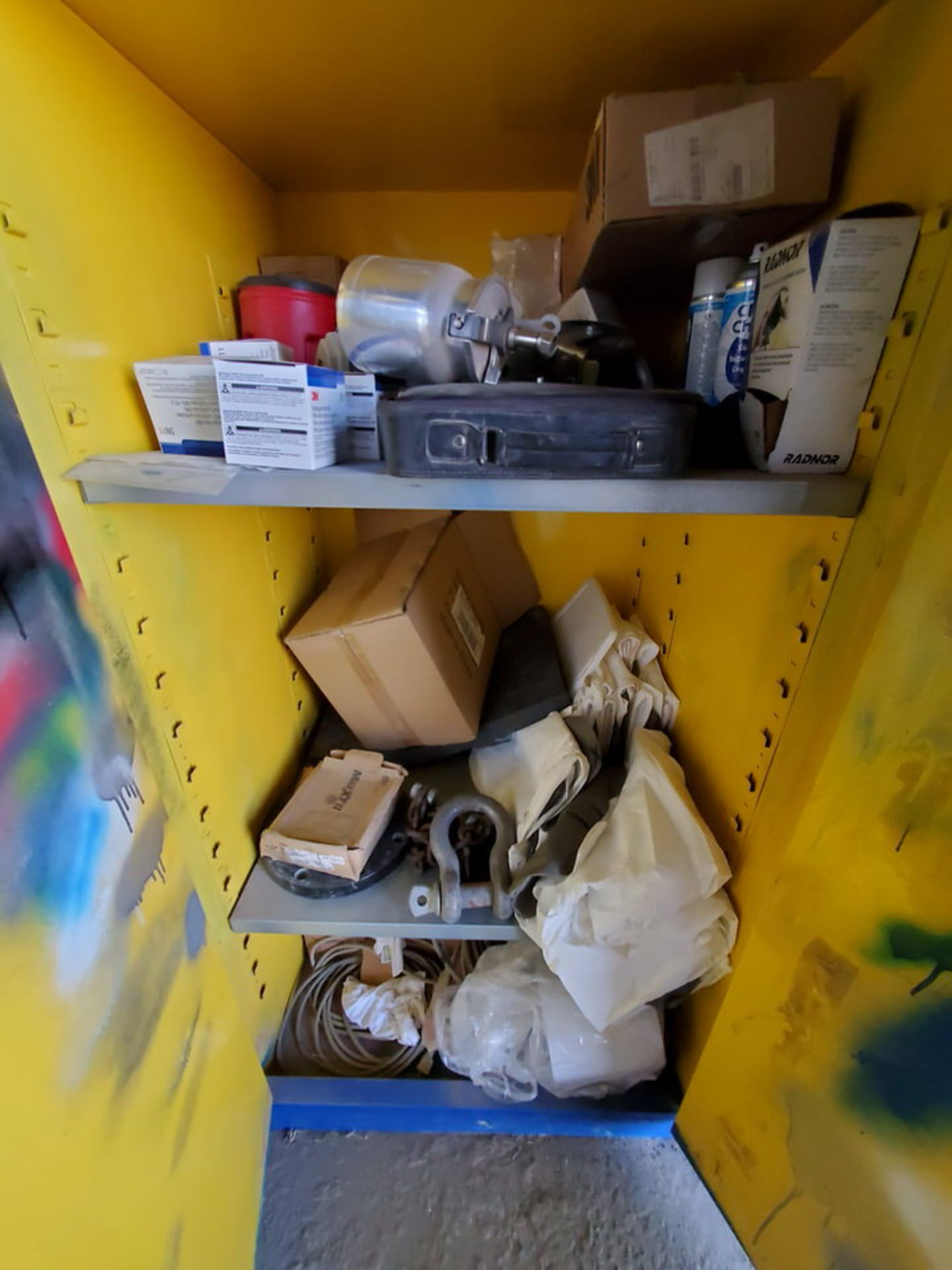 (2) Metal Storage Lockers To Include But Limited To: Lubricants & Paints, Assorted Fittings, Air - Image 2 of 9