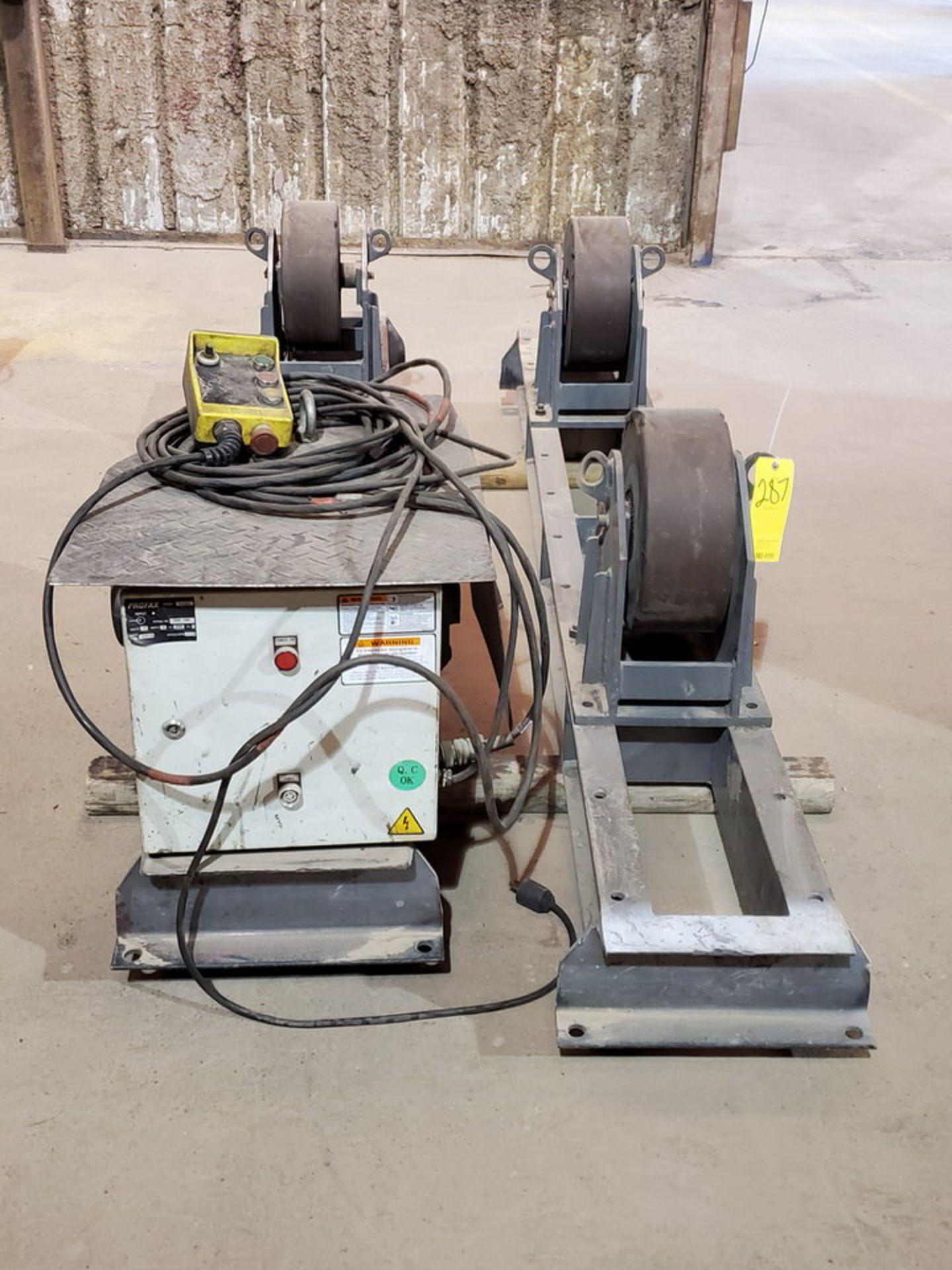 "Profax TR-20000 Turn Roll 10K Cap., 115V, 15A, 50/60HZ, 1PH, RPM: 0-1.9; 5"" Wheel Dia. - Image 2 of 8"