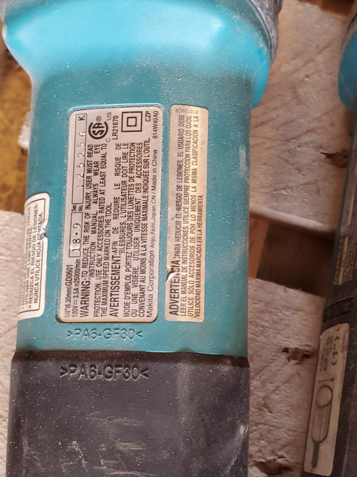 """Makita (3) 1/4"""" Die Grinders 120V, 3.5A - Image 4 of 4"""