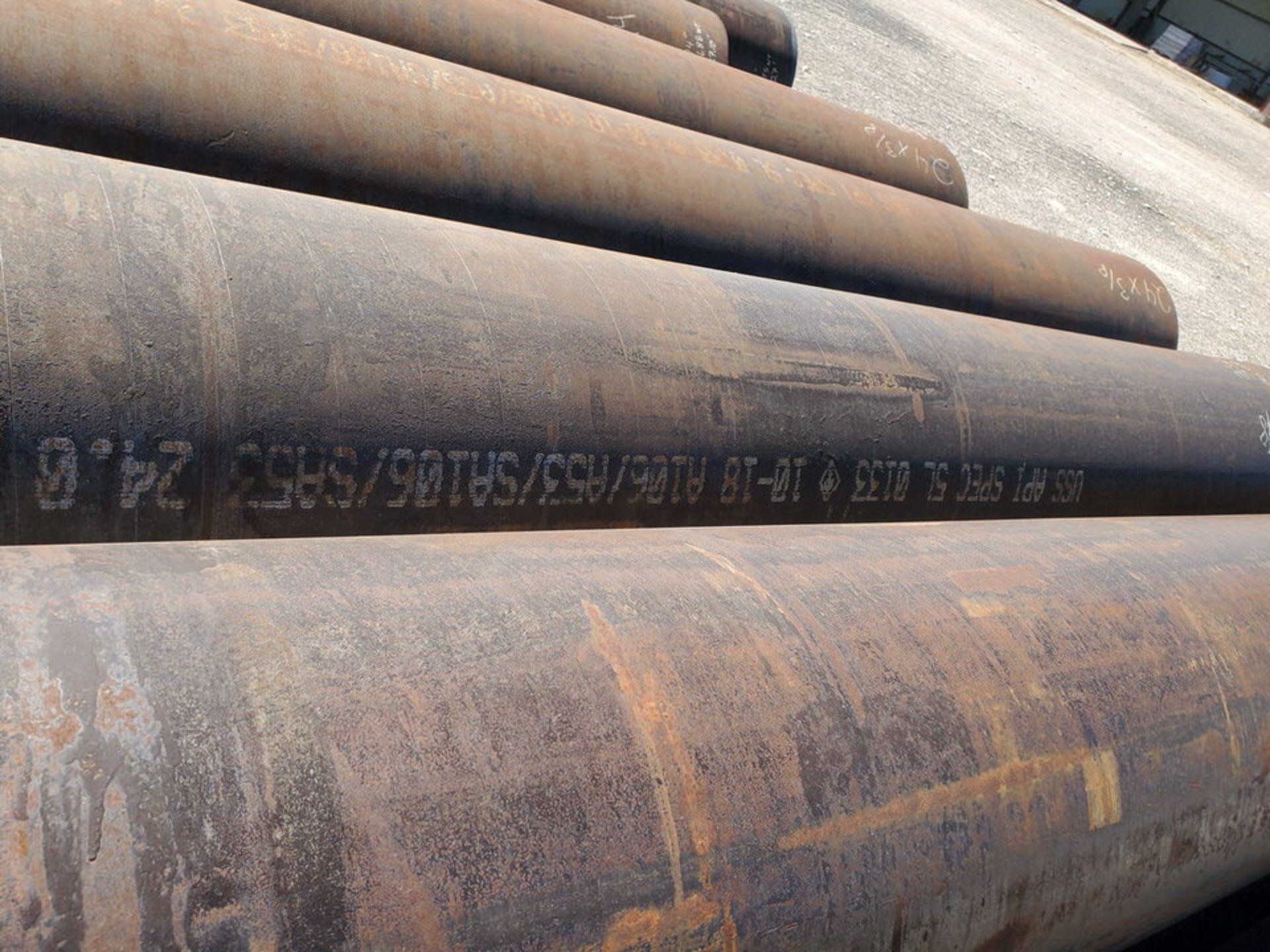 """(6) Pipe 18"""" - 24""""O.D.; 40'3"""" - 44'L, A106/A53/SA106/SA53 - Image 9 of 14"""