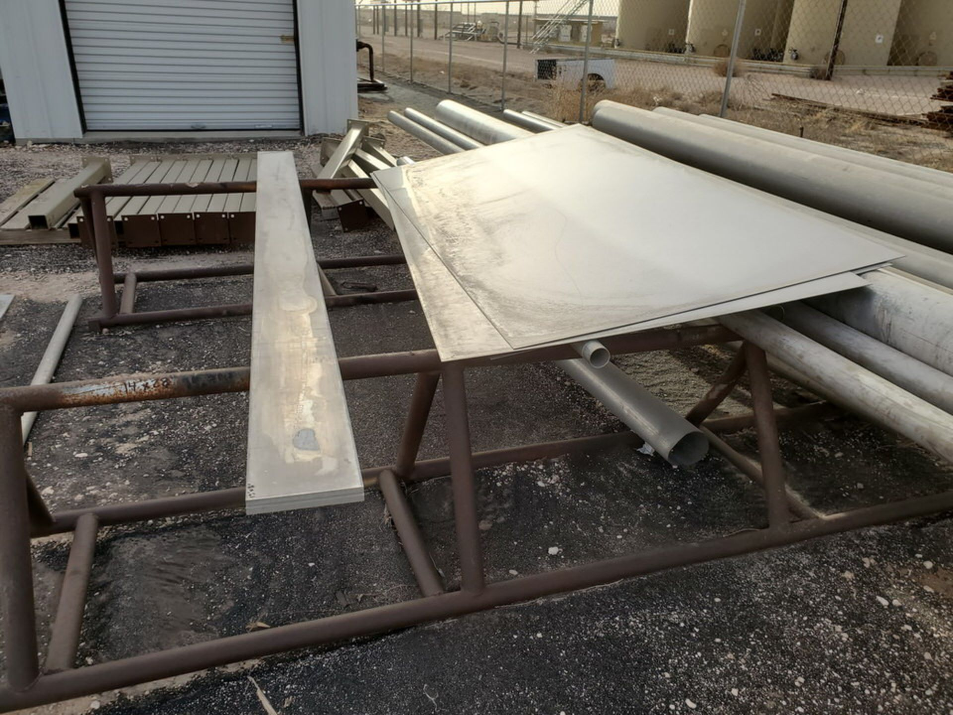 Assorted Matl. To Include But Not Limited To: S/S Flat Bar, Pipe & Sheets (Rack Excluded) - Image 6 of 22