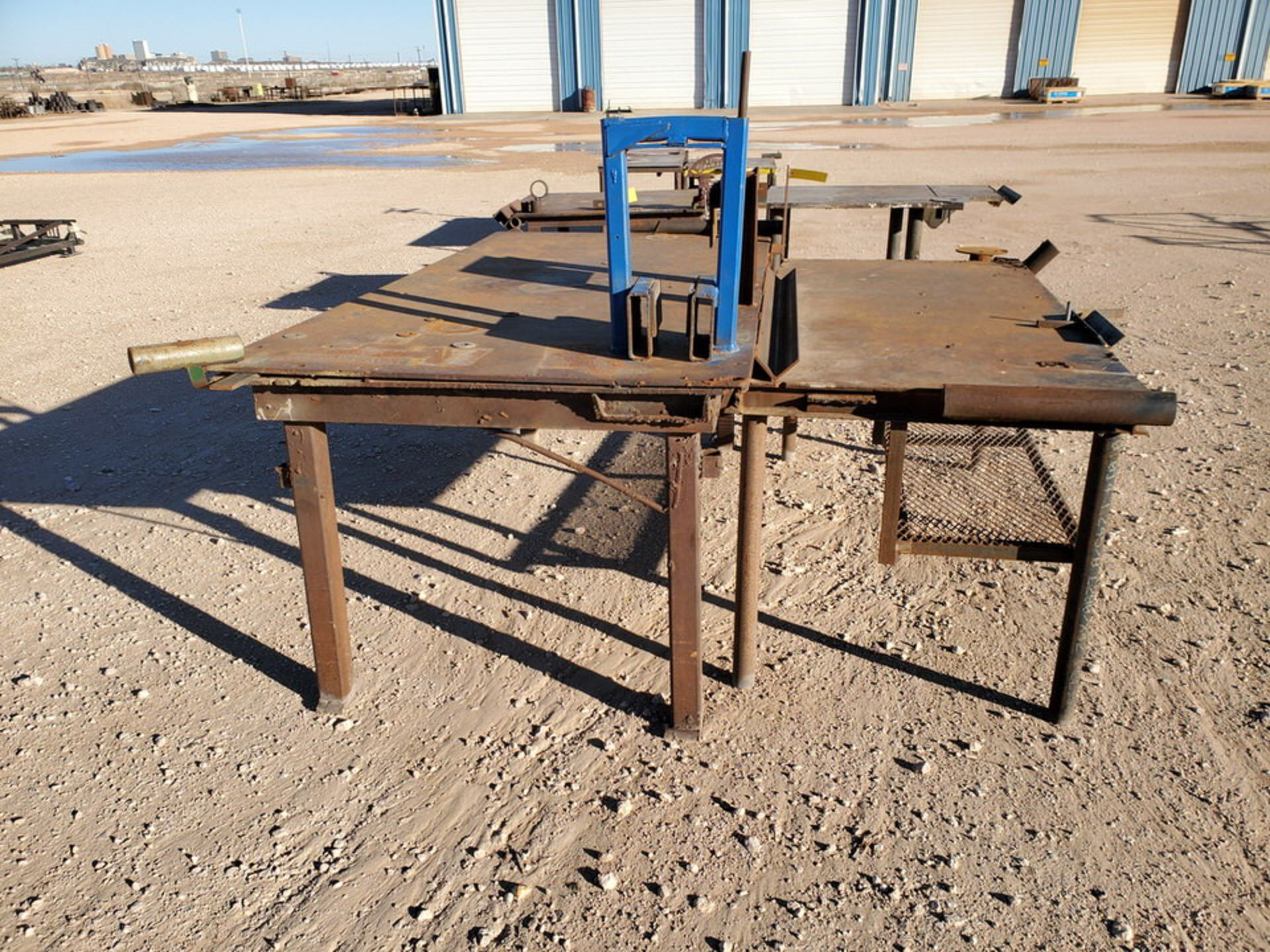 "(2) Stl Welding Tables (1) 48-1/2"" x 96"" x 37""H; (1) 37"" x 78"" x 34-1/2""H - Image 3 of 4"