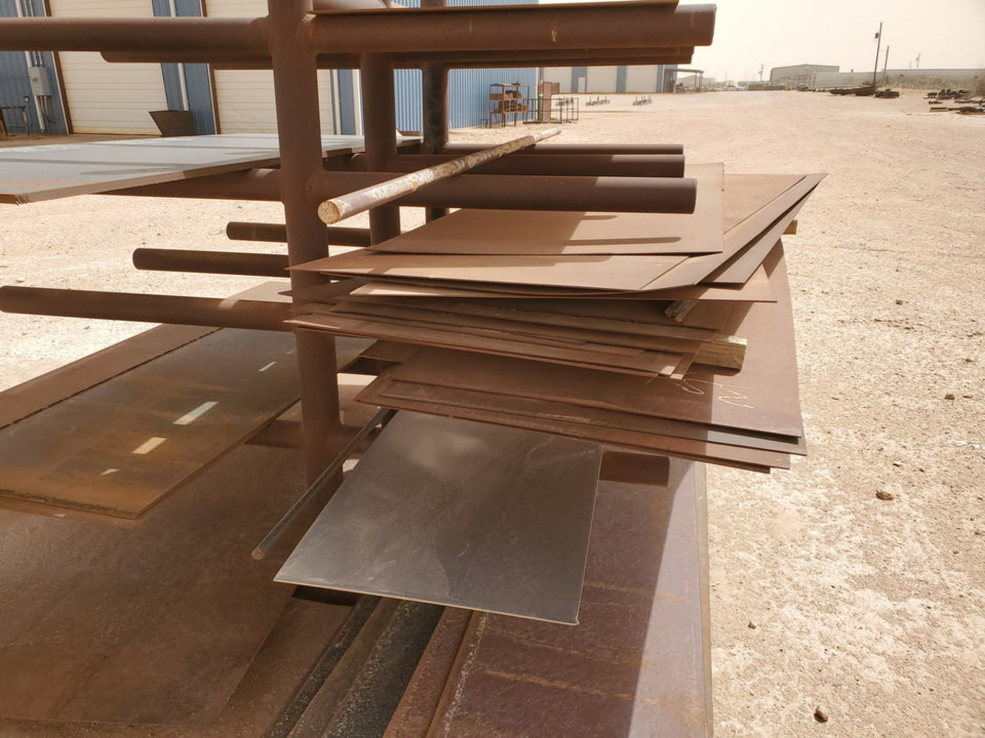 "Flat Bar & Metal Sheets L: 3' - 15', W: 1' - 5'7-1/2"", Thk: 3/16"" - 9/16""; W/ Racks - Image 12 of 12"