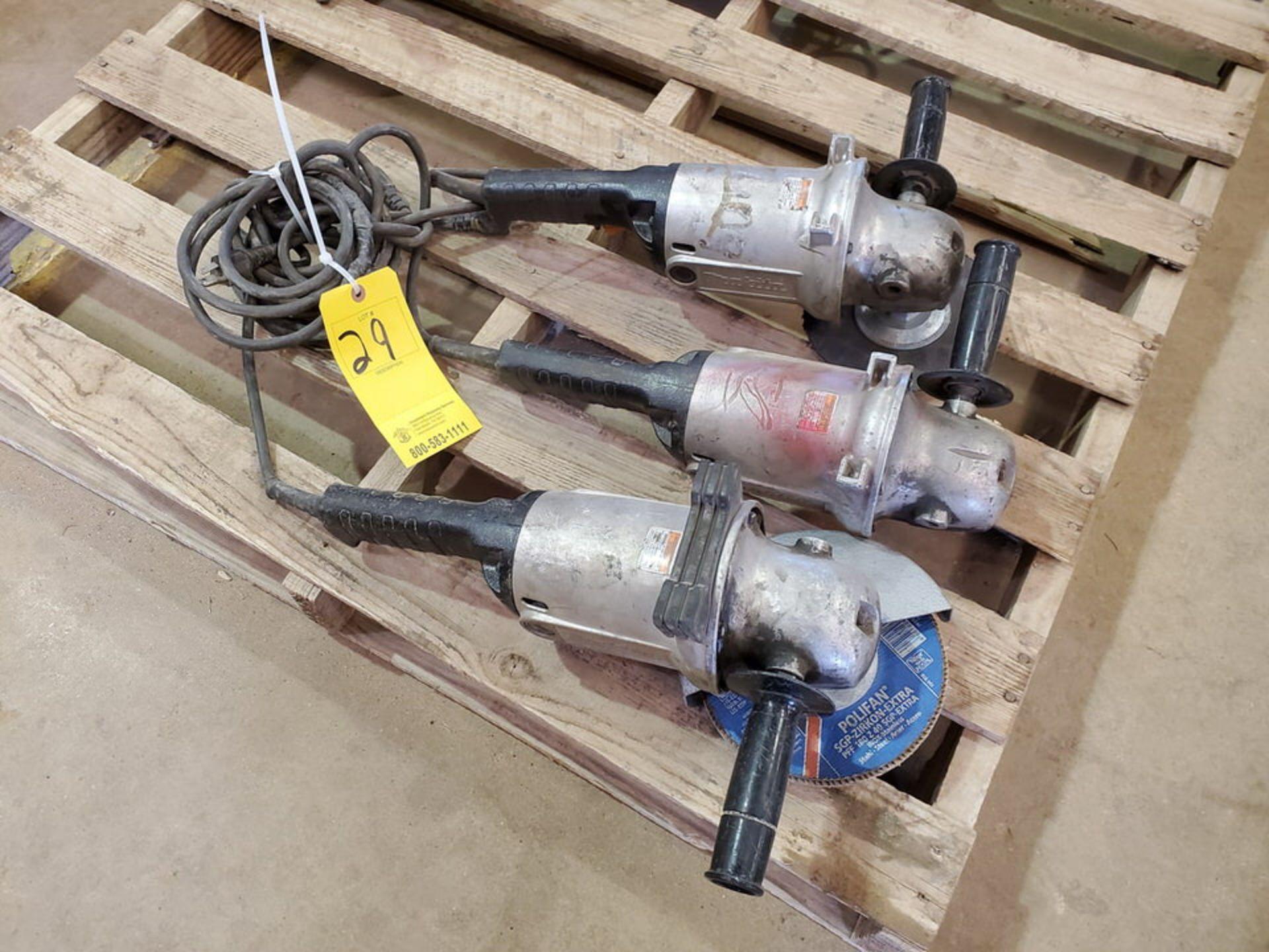 """Makita (3) 7""""-9"""" Angle Grinders 120V, 15A - Image 3 of 4"""