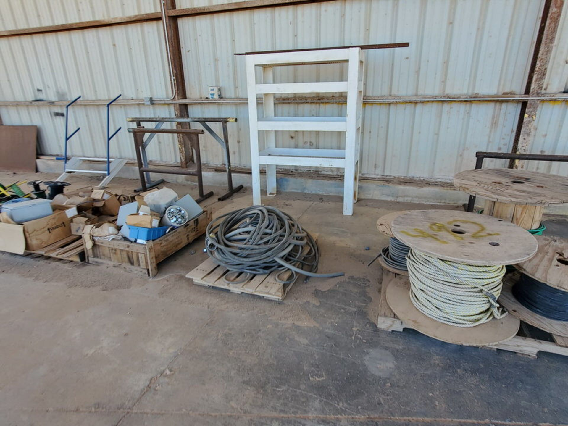 Misc. Matl. To Include But Not Limited To: Lift Basket, Welding Table, Sheet Metal, Ele Wire, Rope - Image 6 of 13