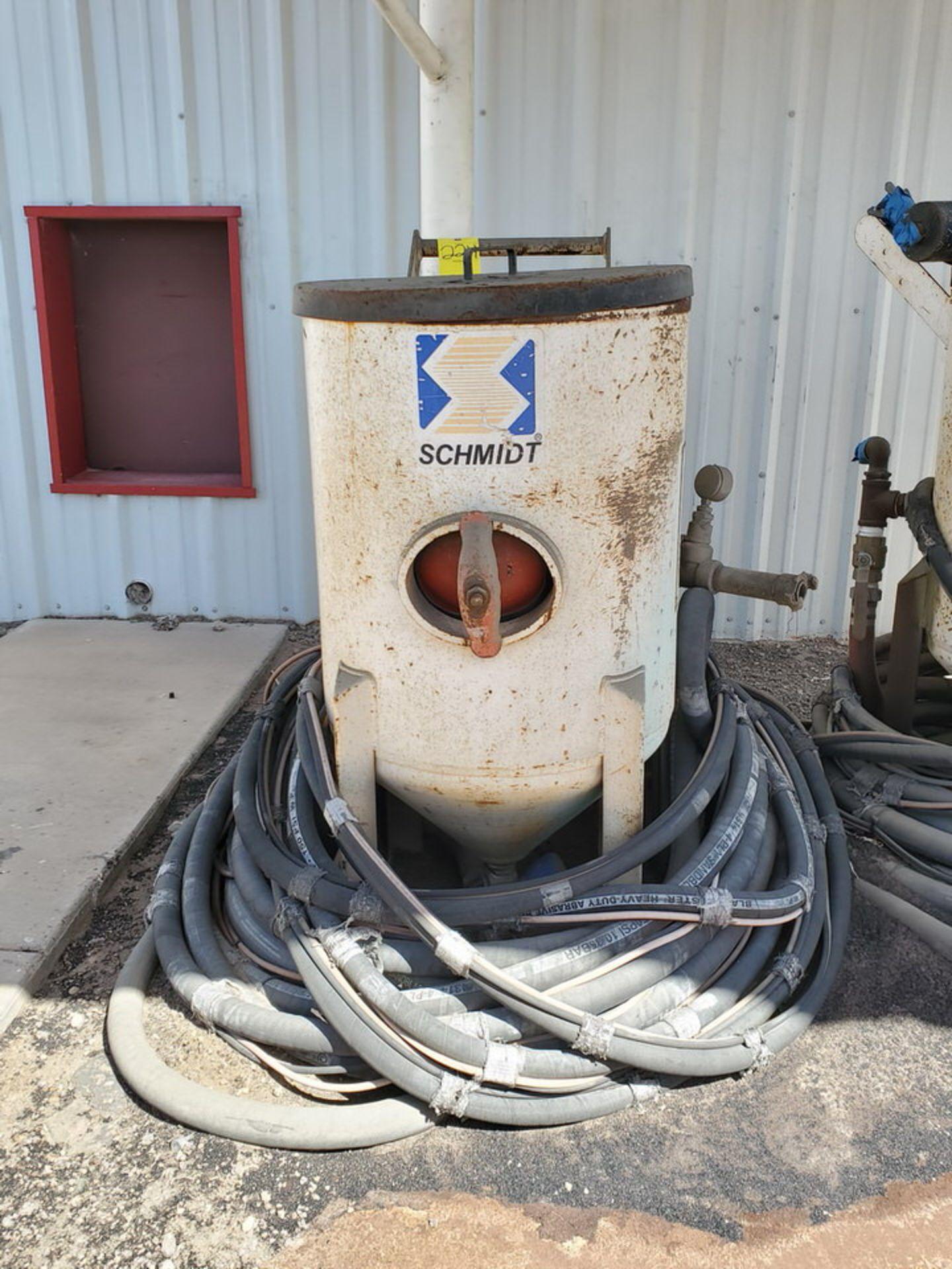 Schmidt 12' Portable Abrasive Sand Blaster Pot 150psi@250F, -20F@150psi; NB# 10649 - Image 2 of 9