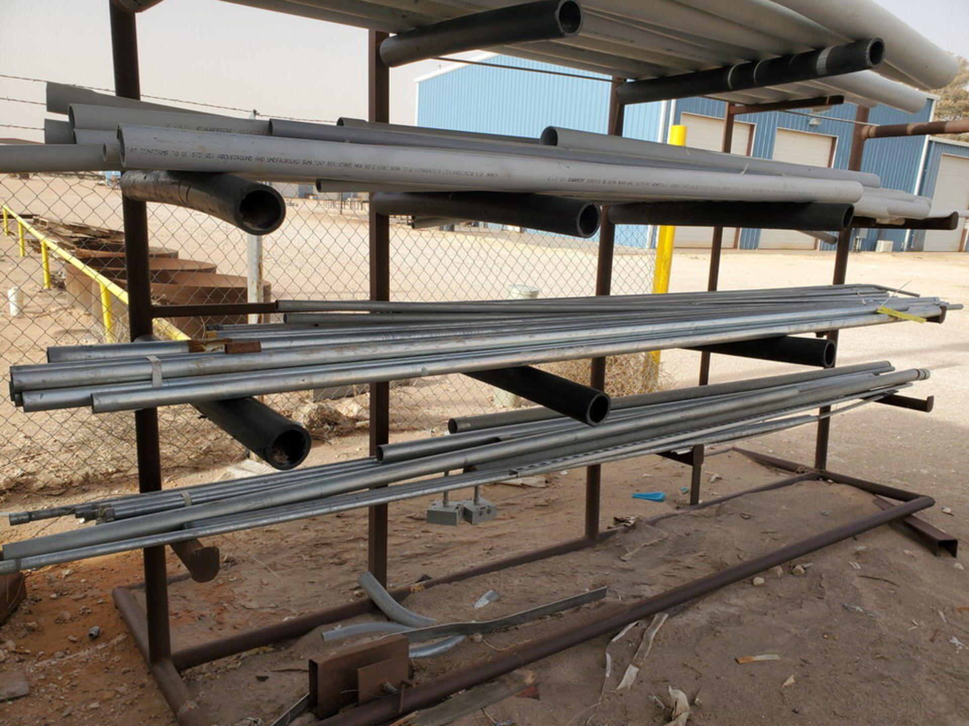 "PVC & Alum. Pipe W/ Conduit Size Range: 1/2"" - 4"" W/ Rack - Image 18 of 18"