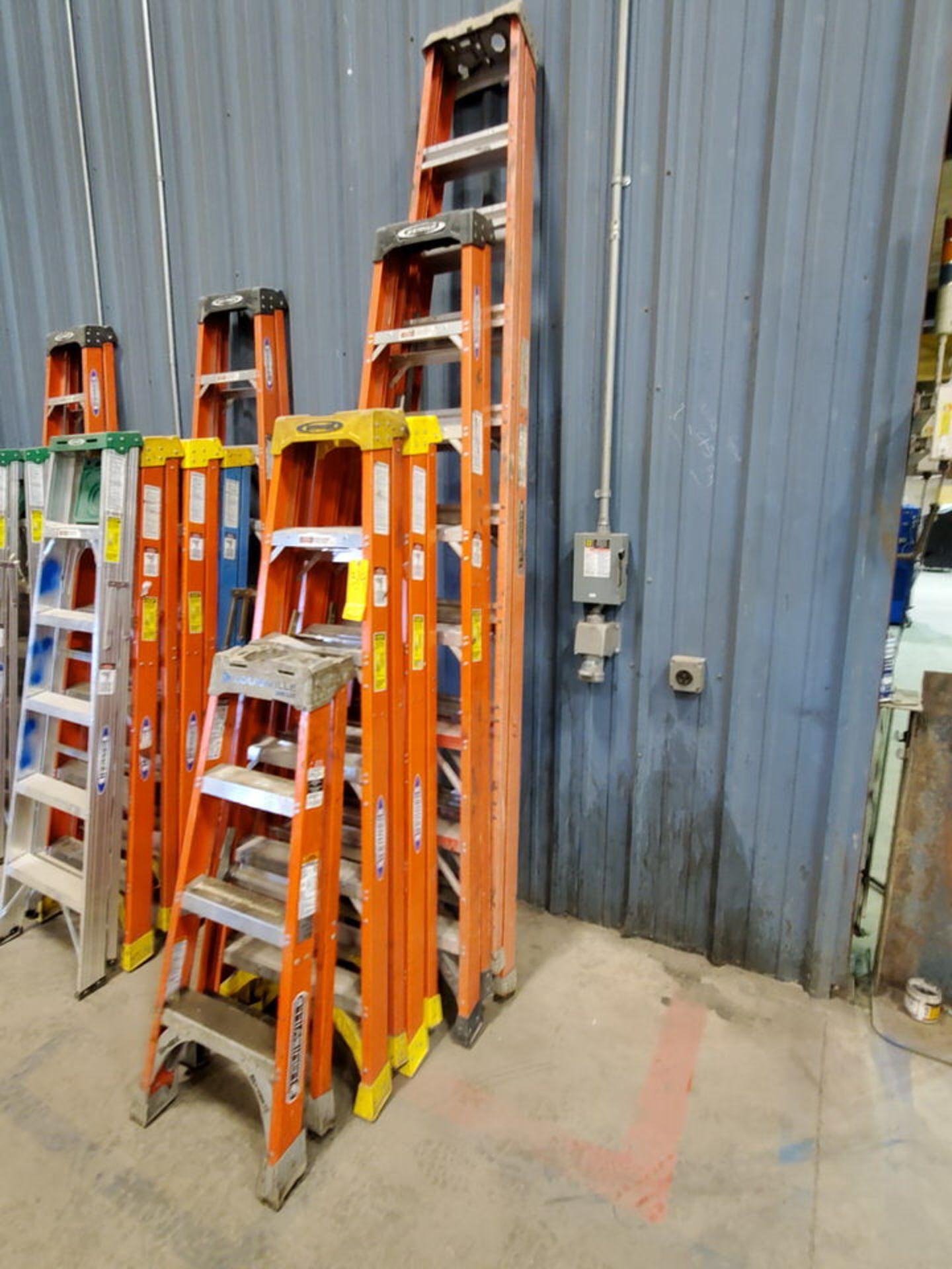 (5) Alum. Platform Ladders 10', 8', (2) 6', 4' - Image 2 of 4