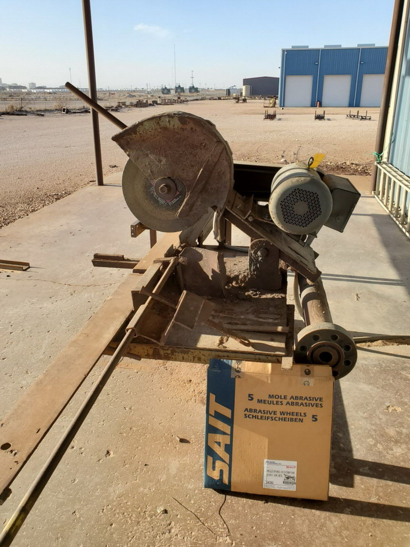 "18"" Chop Saw 10HP, 3450RPM, 230V, Baldor Motor; W/ Rolling Conveyor, 10' x 16-1/2"" - Image 3 of 11"