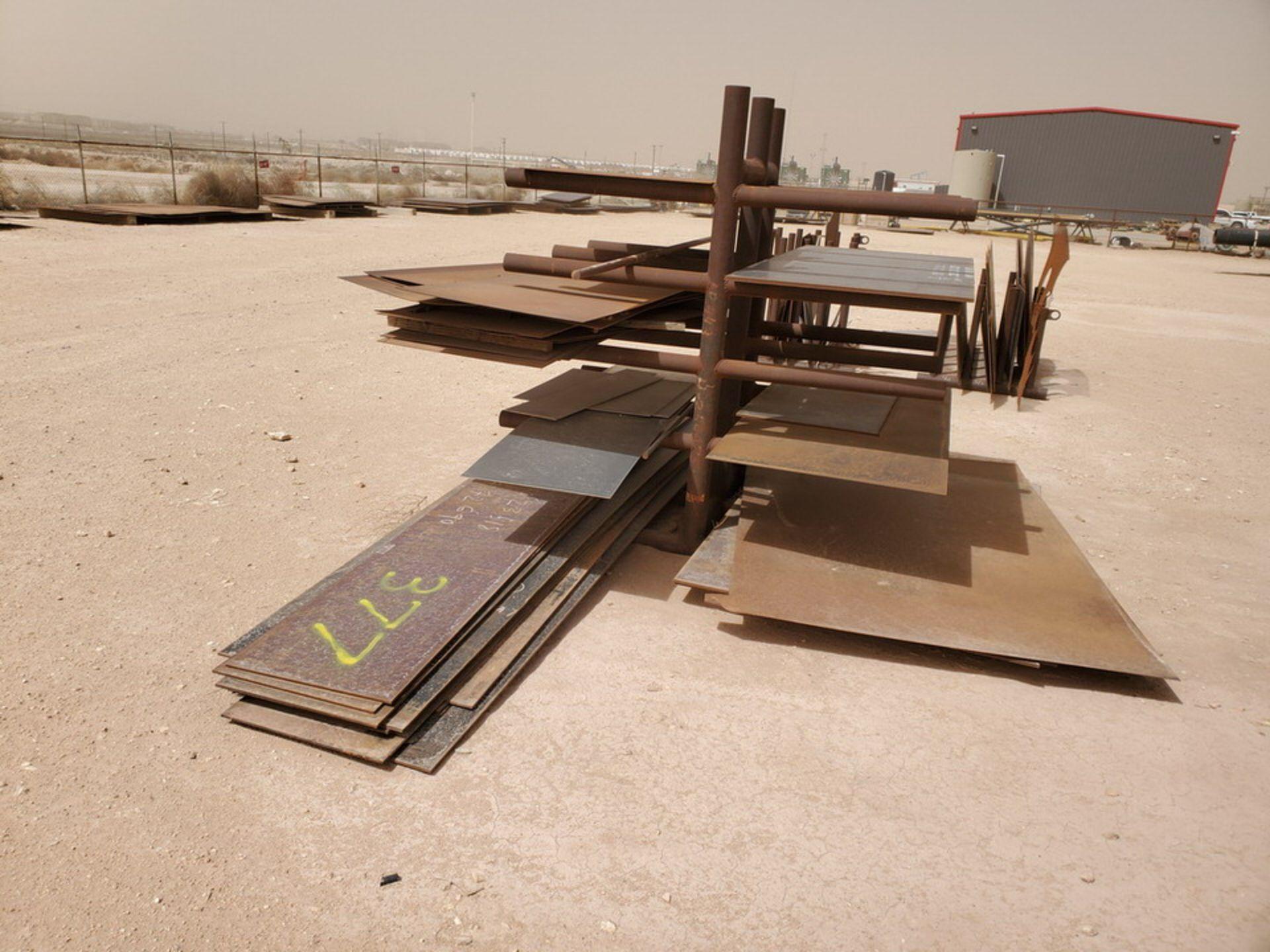 "Flat Bar & Metal Sheets L: 3' - 15', W: 1' - 5'7-1/2"", Thk: 3/16"" - 9/16""; W/ Racks - Image 4 of 12"