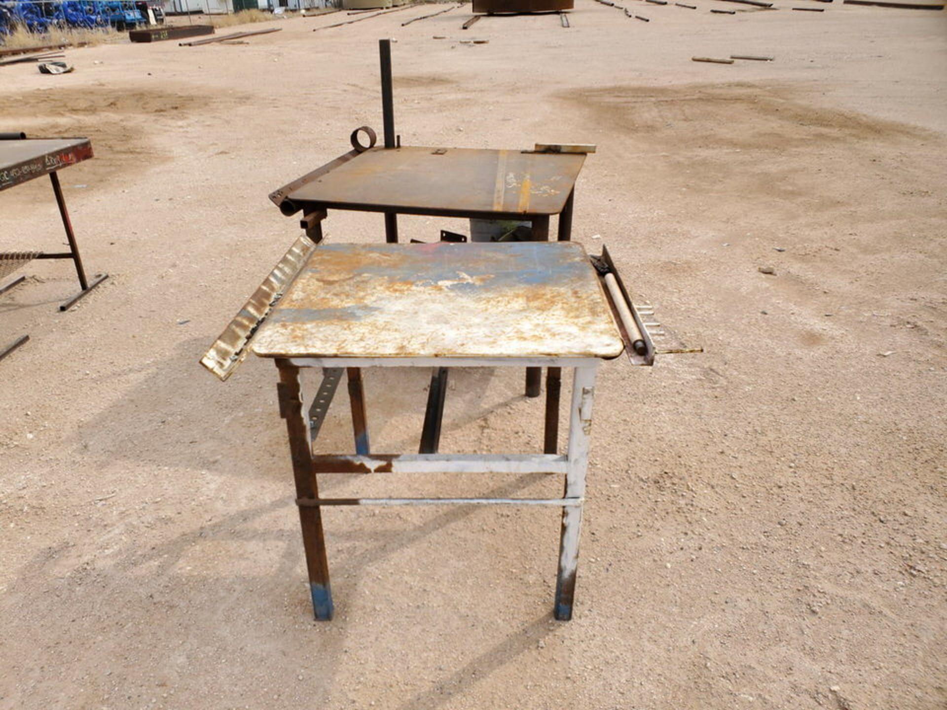 "(2) Stl Welding Tables (1) 43"" x 48"" x 36"", (1) 39"" x 36"" x 36"" - Image 2 of 5"